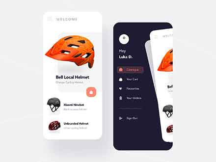 Helmet Shopping App Template