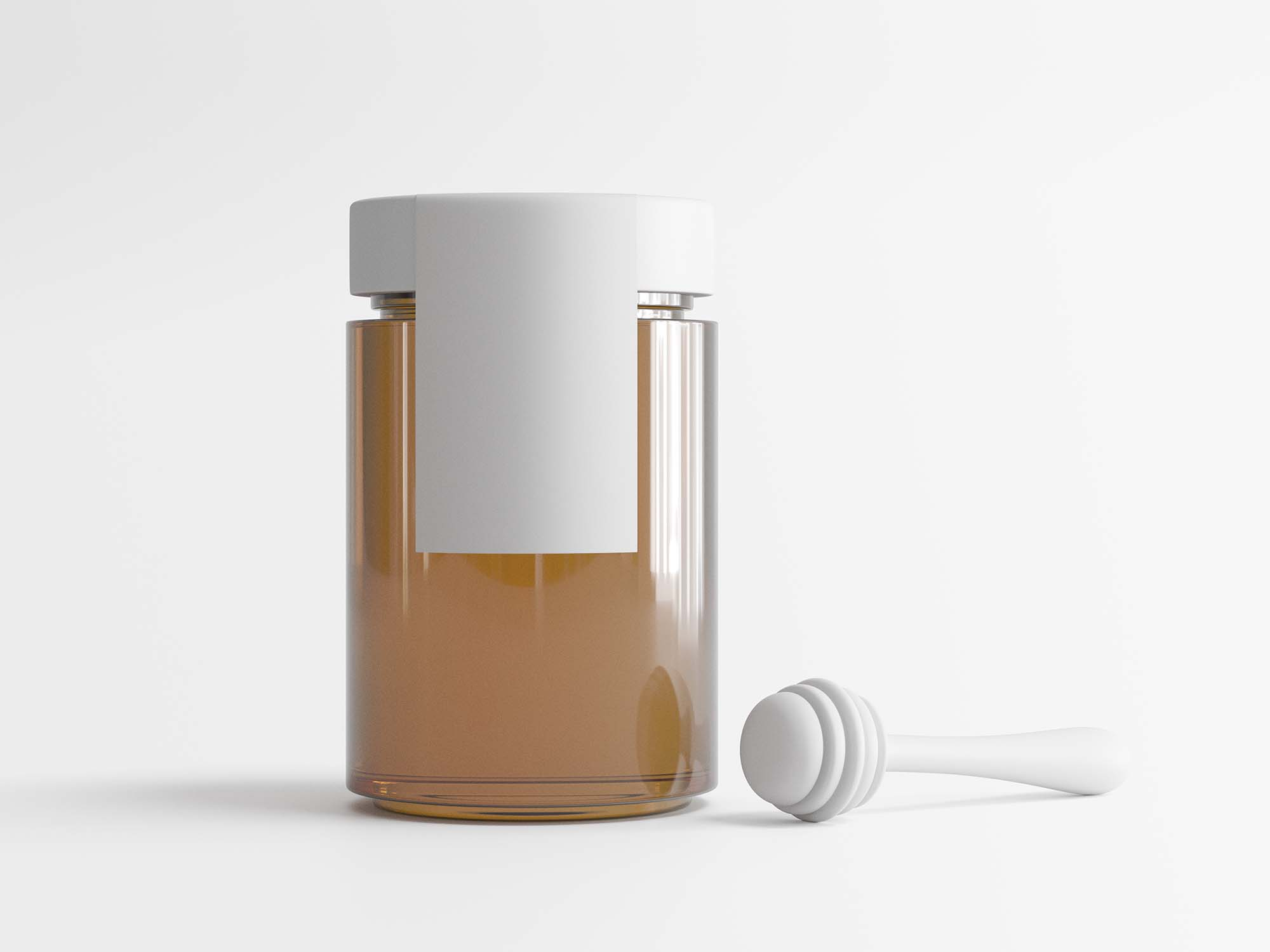 Honey Jar with Spinner Mockup 2