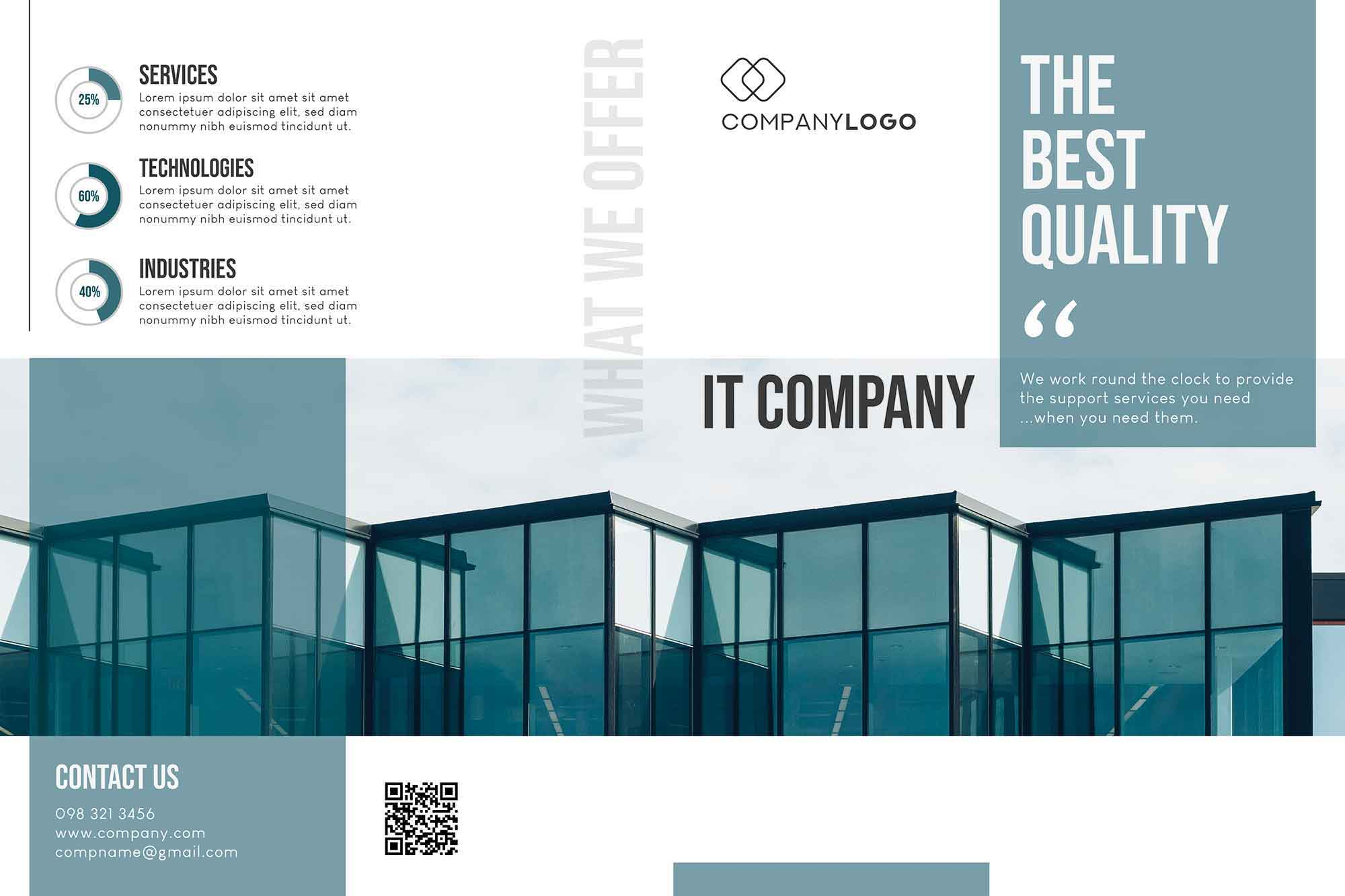 IT Company Brochure Template 1