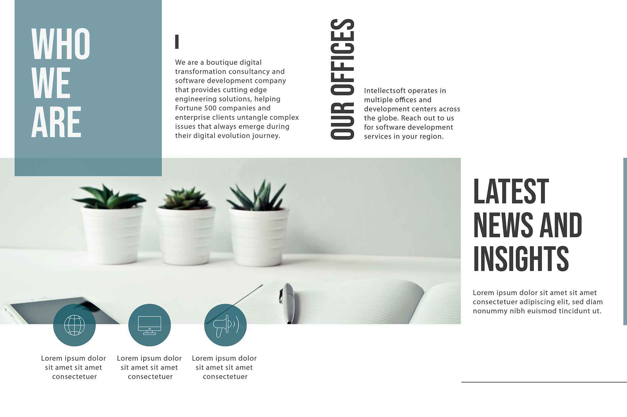IT Company Brochure Template 2