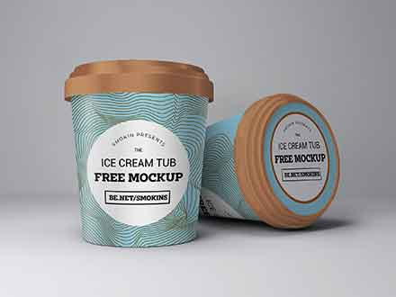 Ice Cream Tub Mockup