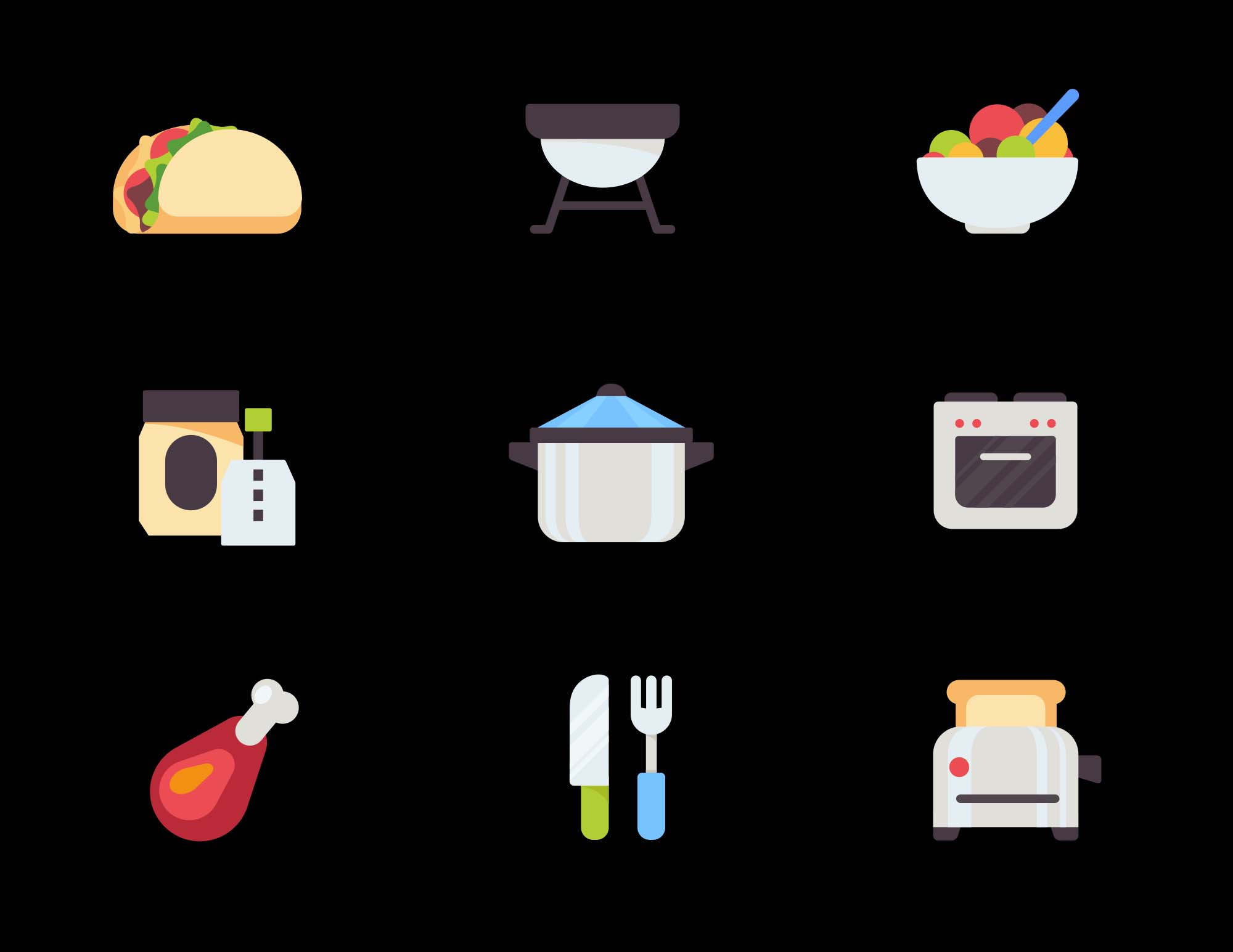 Kitchen-Food Vector Icons 2