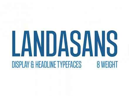 Landasans Sans Serif Font