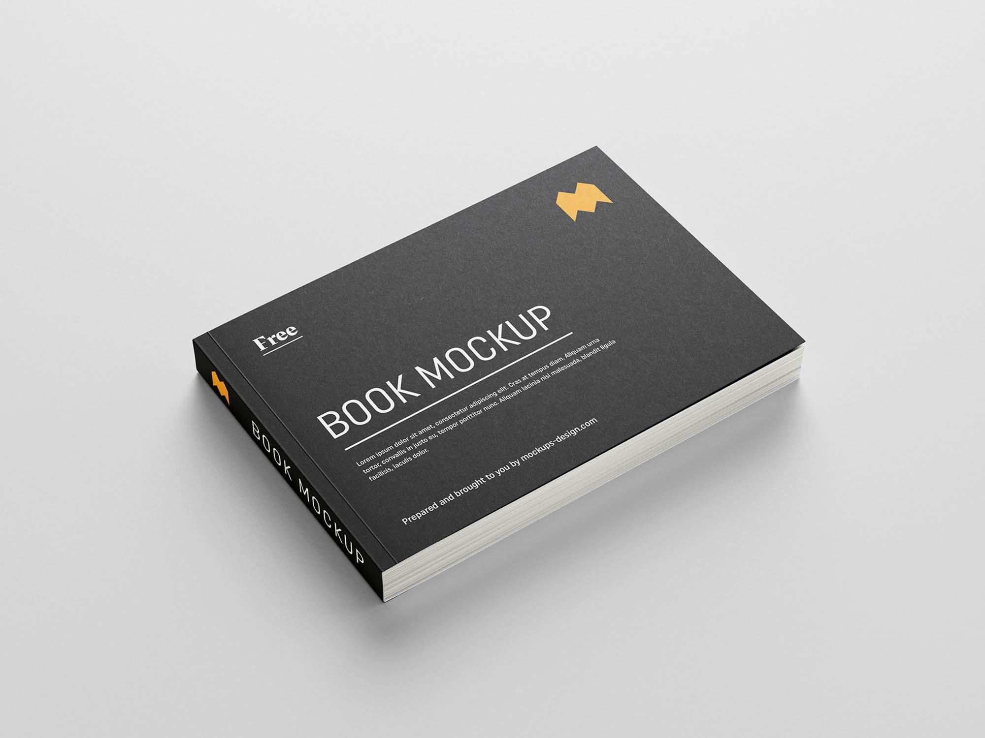 Landscape Softcover Book Mockup 1