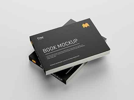 Landscape Softcover Book Mockup
