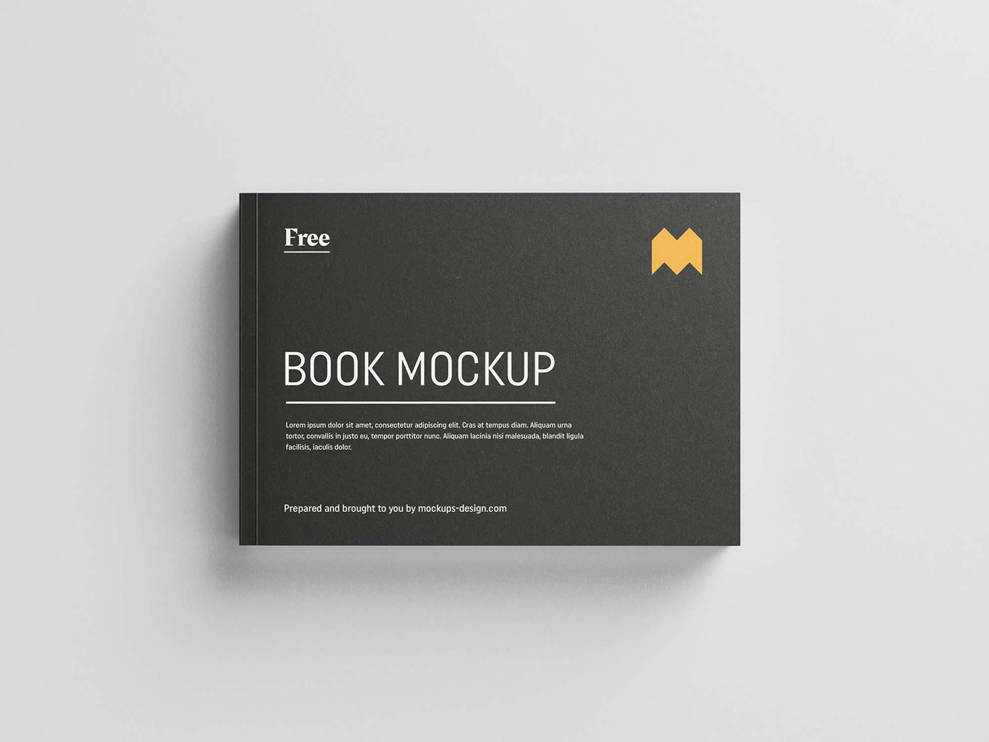 Landscape Softcover Book Mockup 2