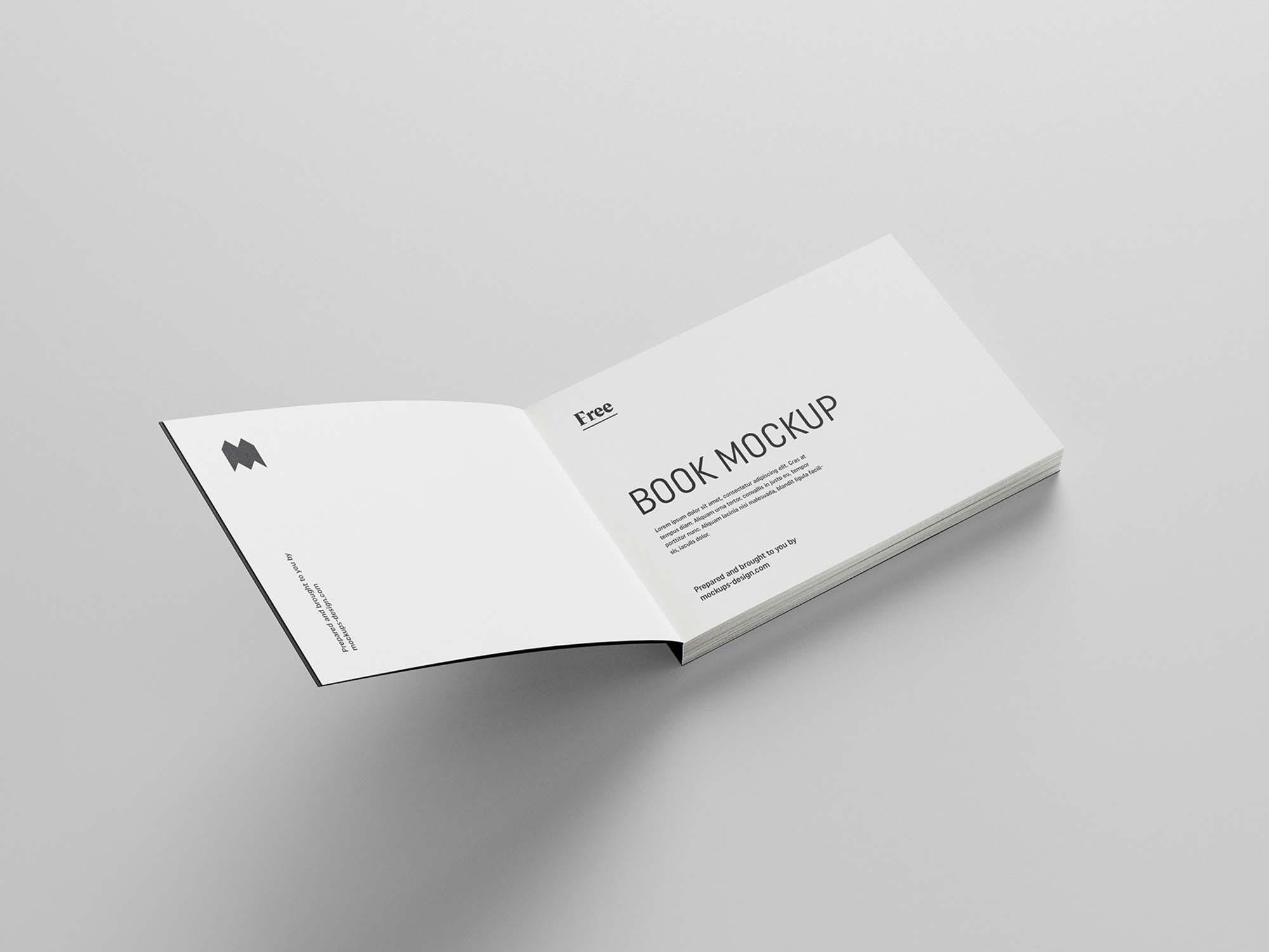 Landscape Softcover Book Mockup 4