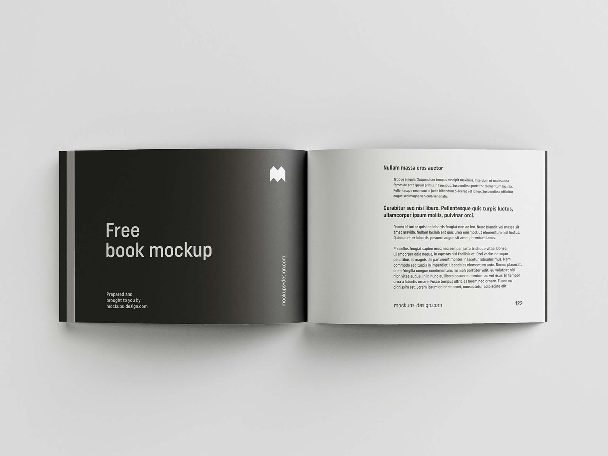 Landscape Softcover Book Mockup 6