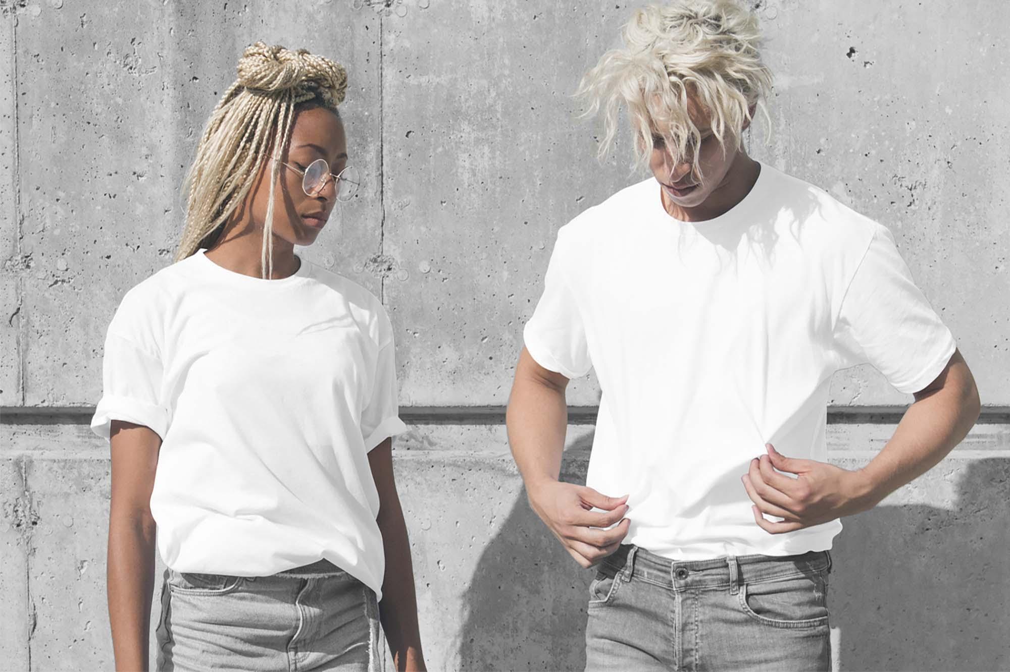 Male Female T-Shirts Mockup 2