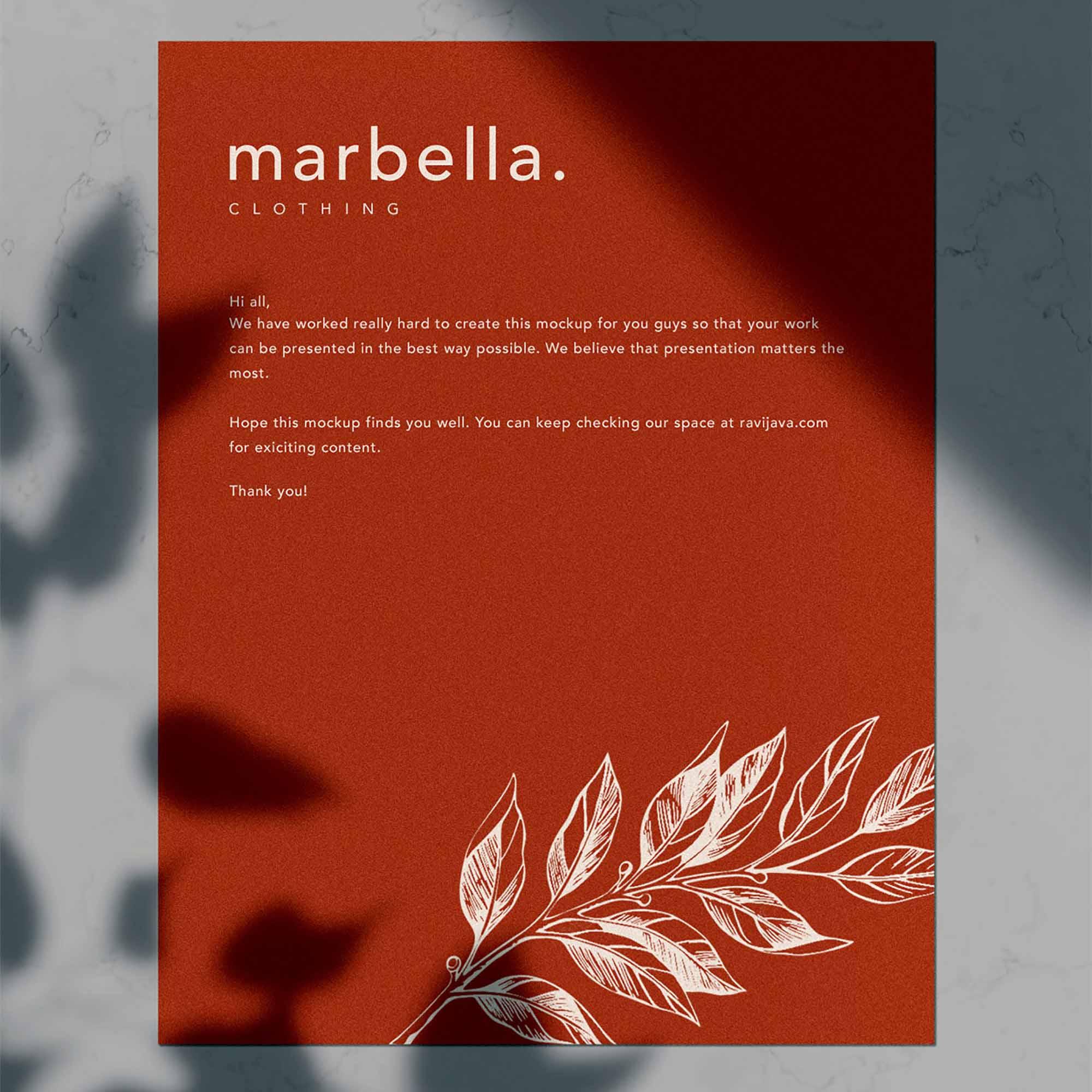 Marbella Stationery Mockup 3