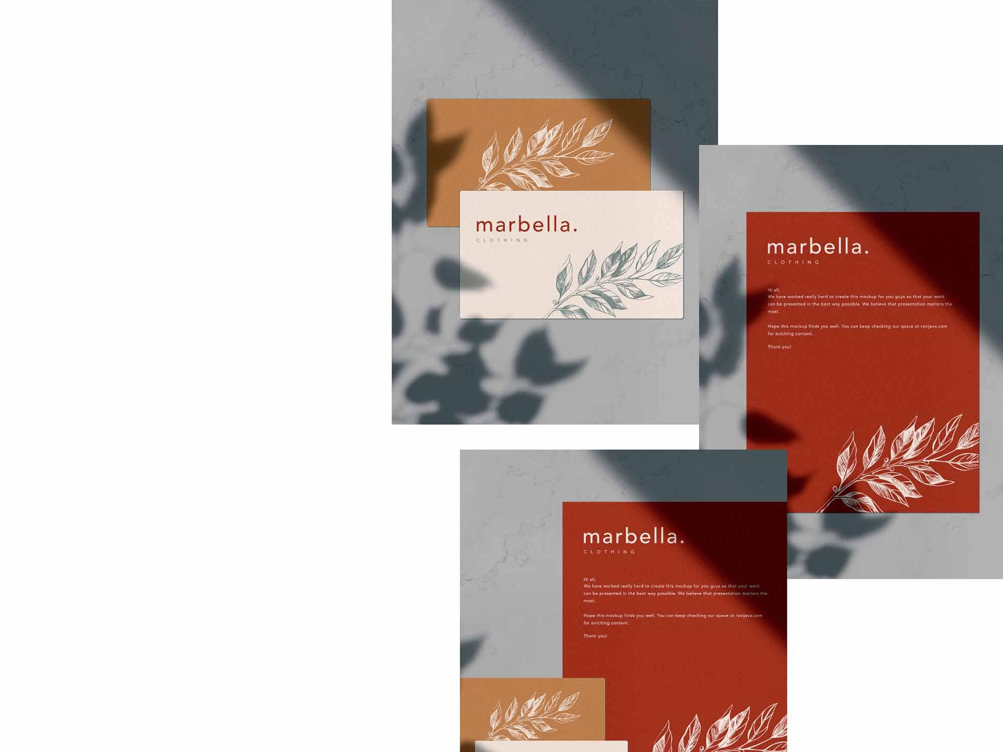 Marbella Stationery Mockup 4
