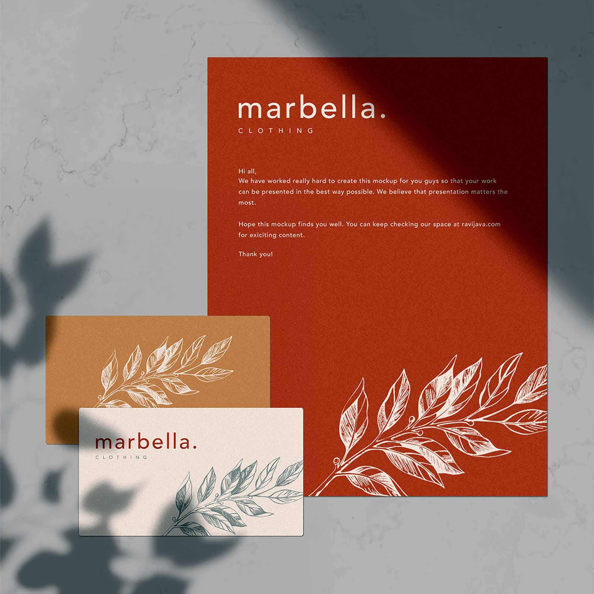 Marbella Stationery Mockup