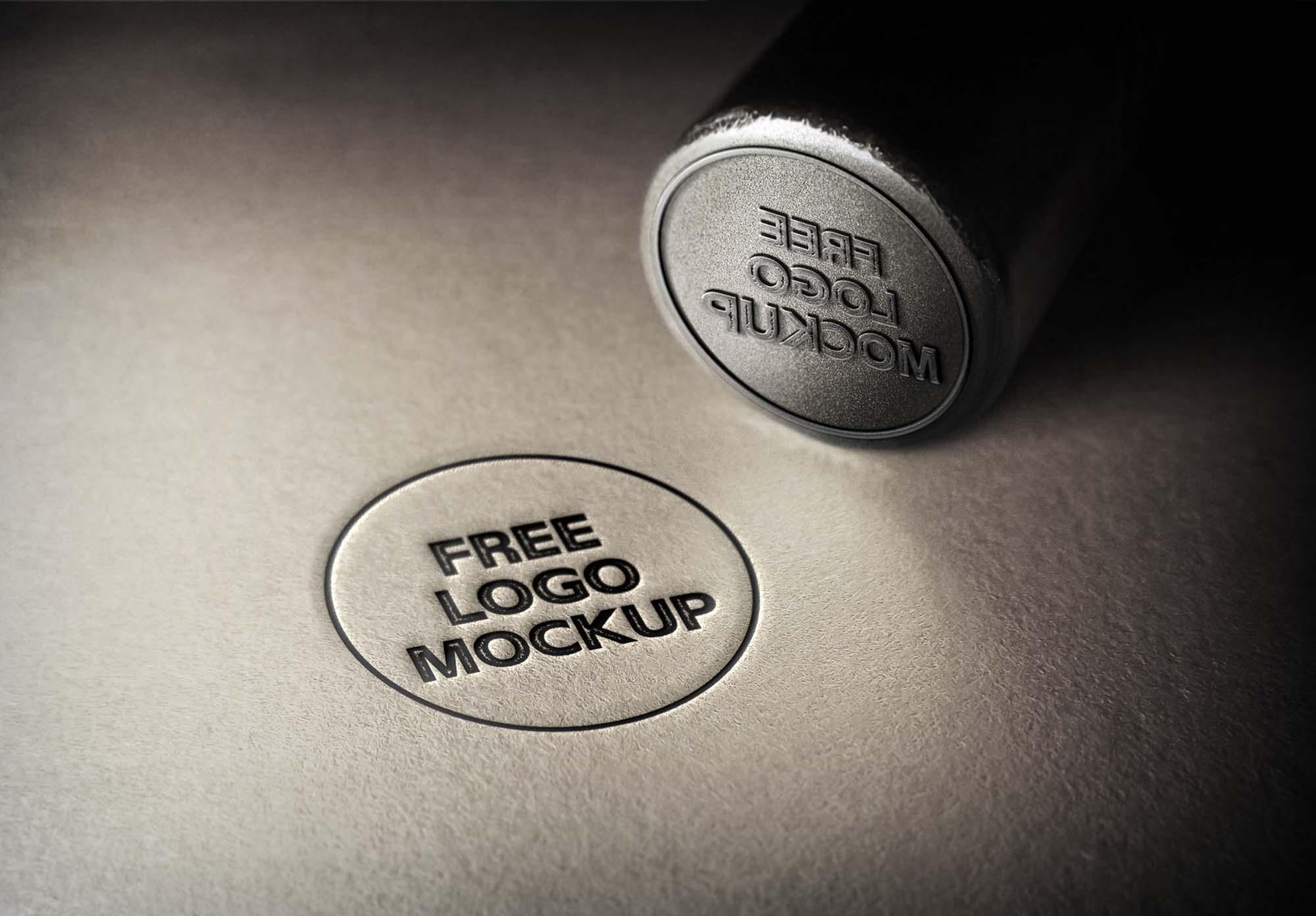 Metal Stamp Logo Mockup