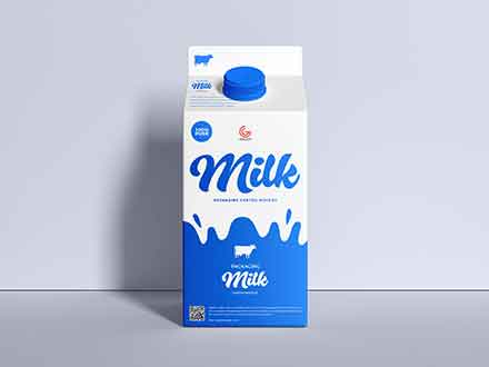 Milk Carton Packaging Mockup
