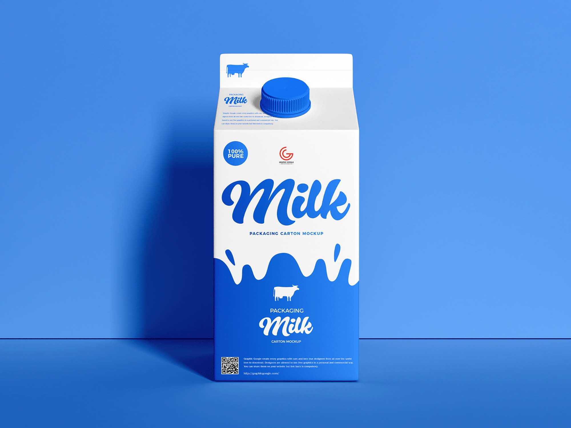 Milk Carton Packaging Mockup 2