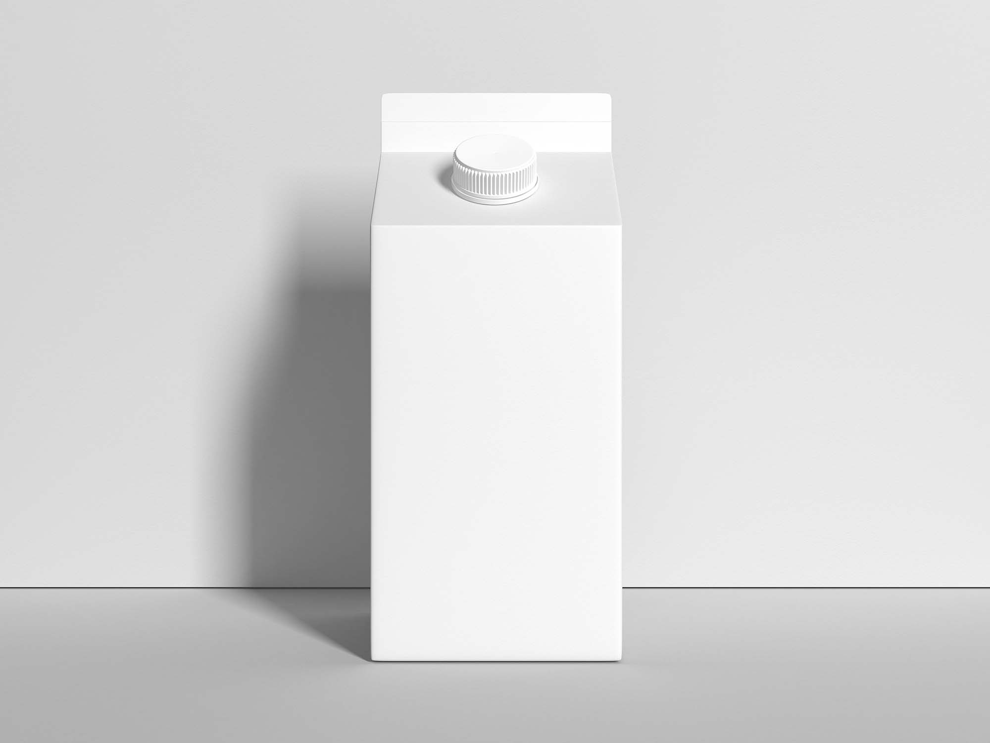 Milk Carton Packaging Mockup 3