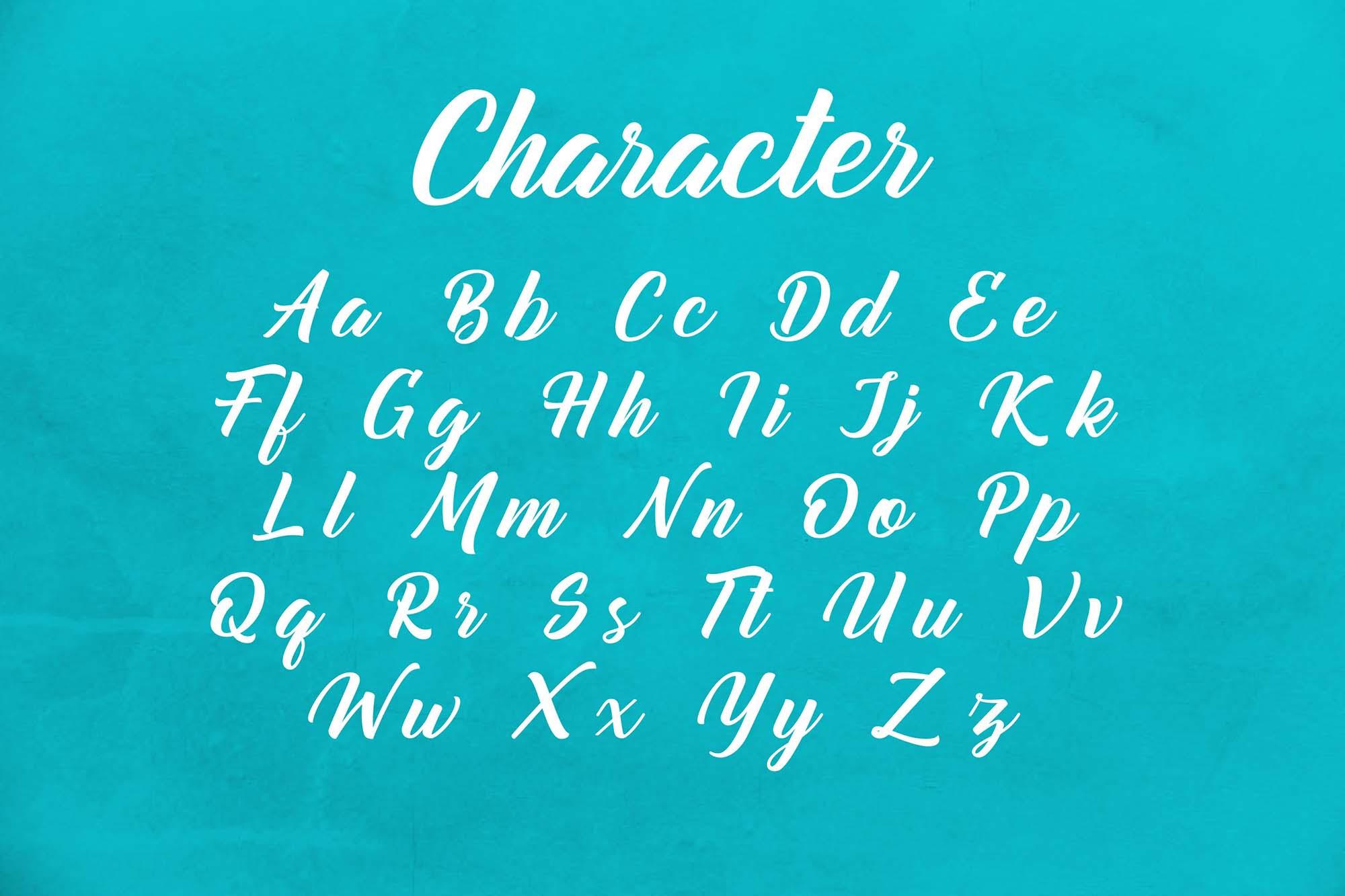 Mountain Bridge Script Font 5