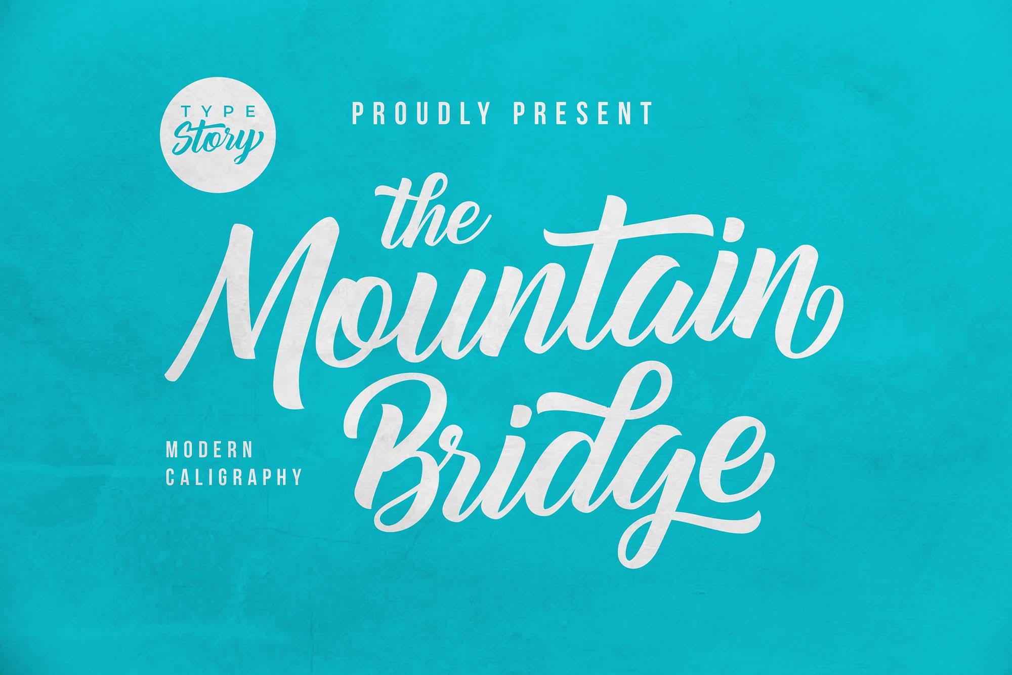 Mountain Bridge Script Font