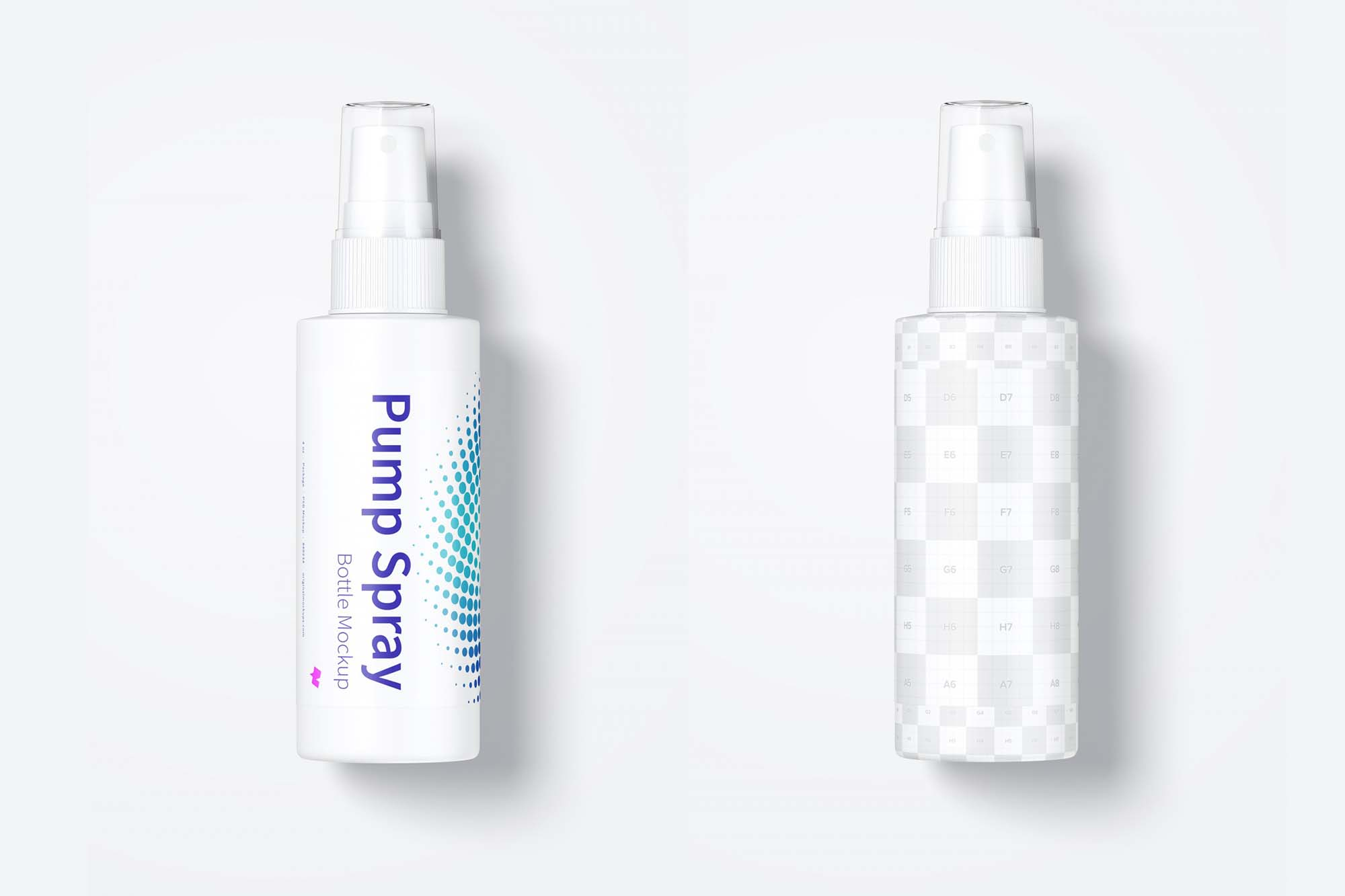 Pump Spray Bottle Mockup 2