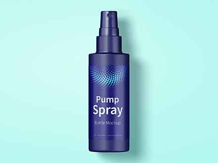 Pump Spray Bottle Mockup