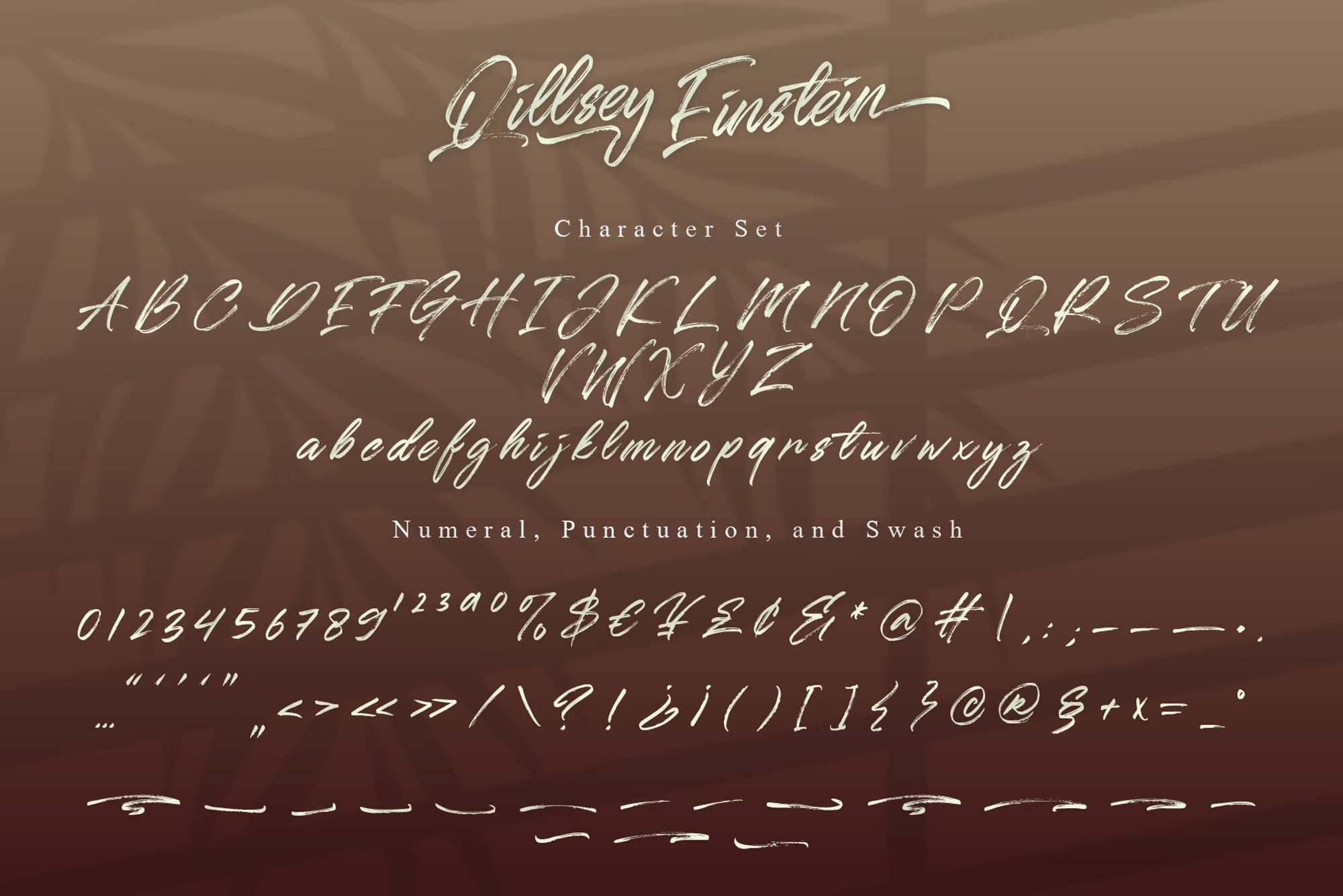 Qillsey Einstein Font 3