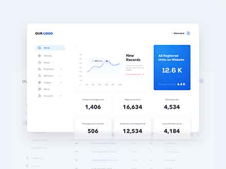 Real Estate Dashboard UI Template