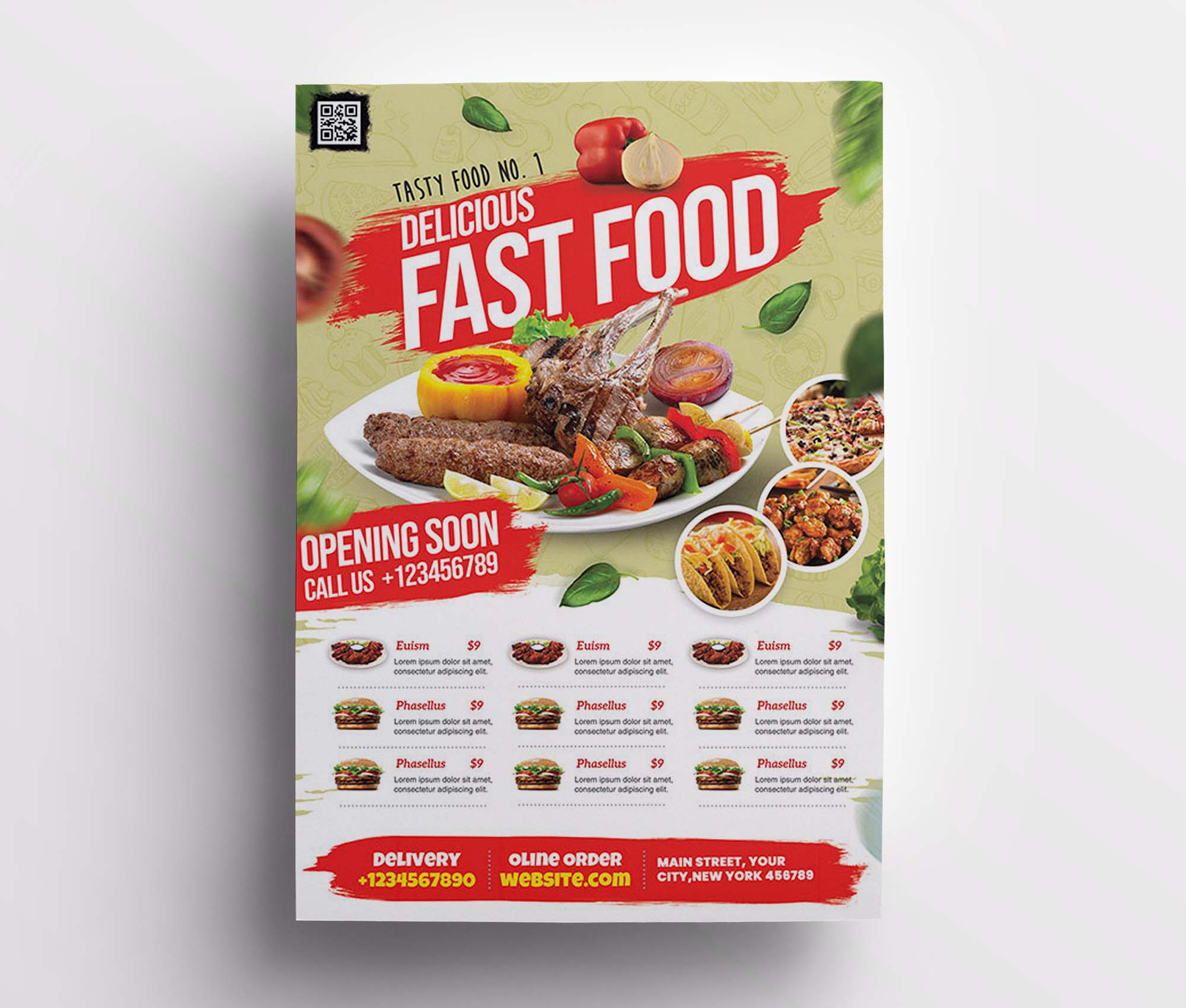 Restaurant Promotion Flyer Template 2