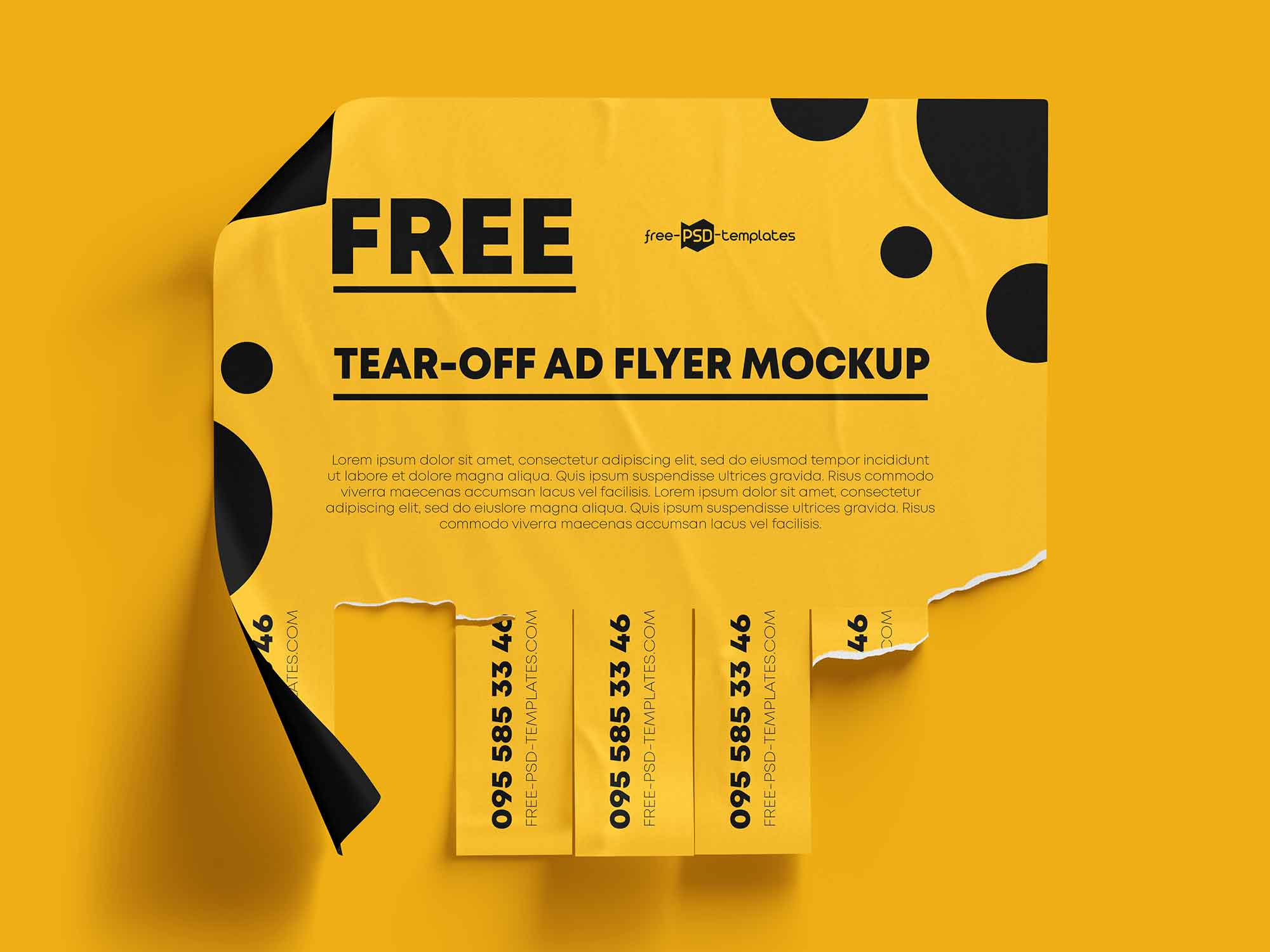 Tear-off Ad Mockup