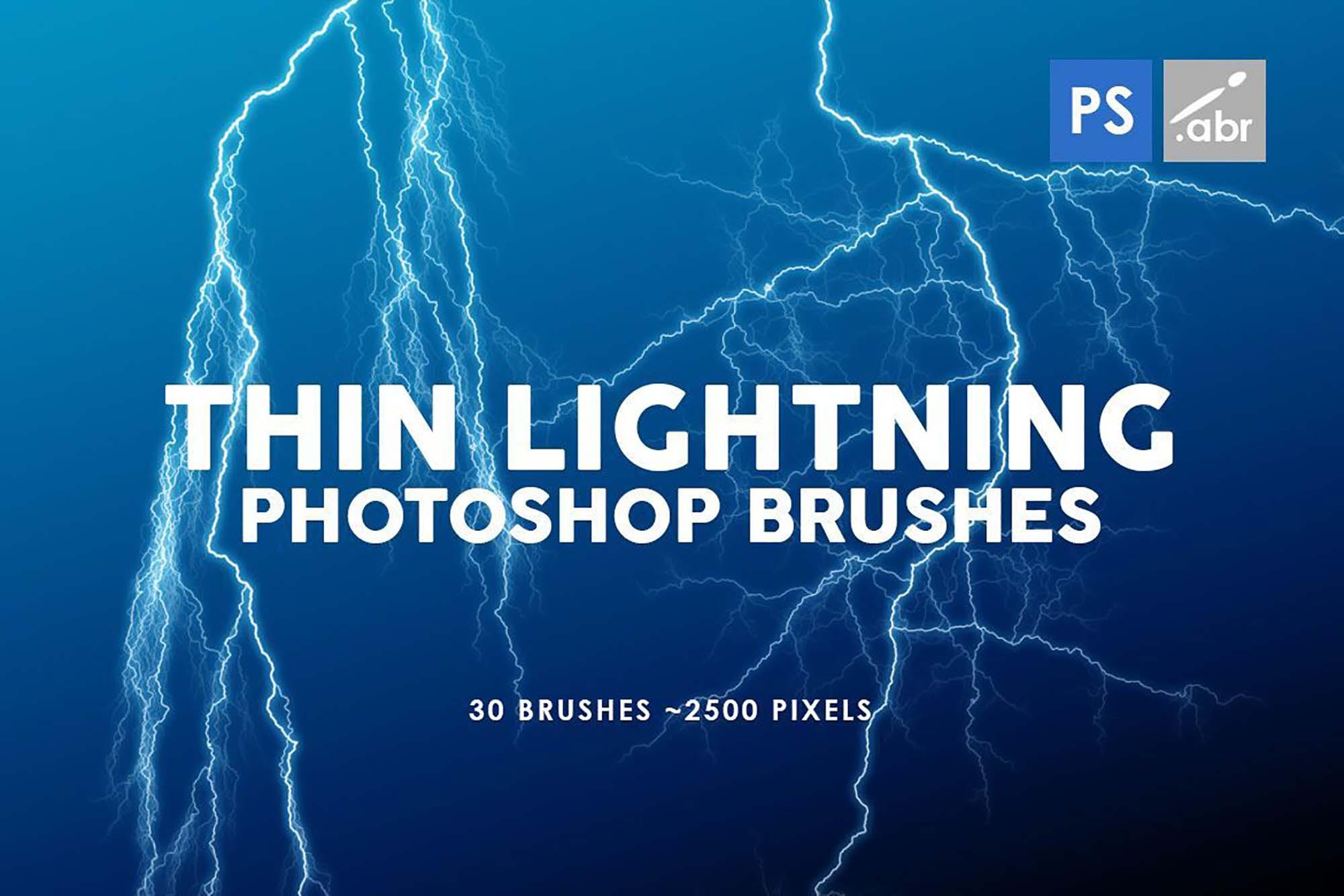 Thin Lightning Photoshop Brushes