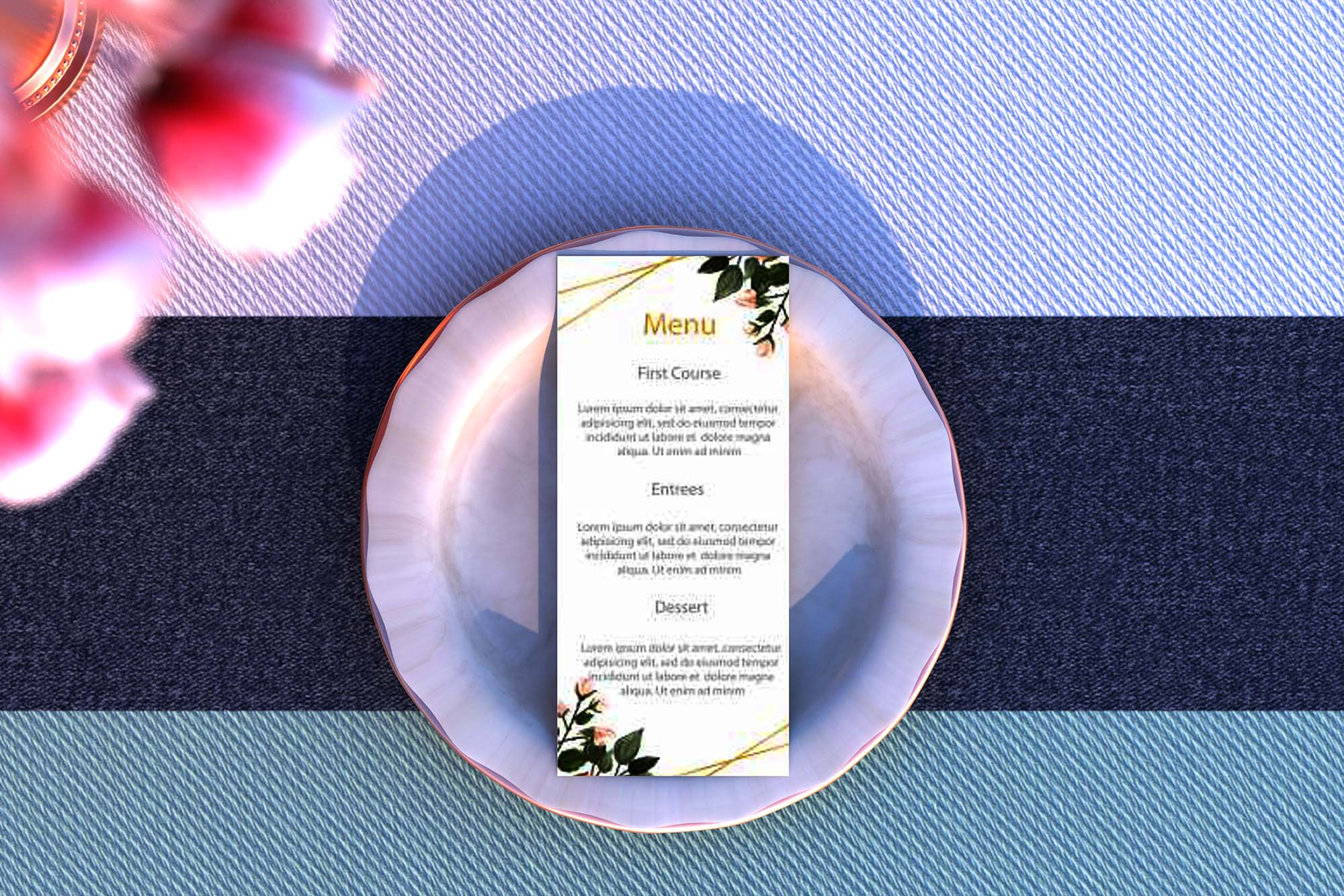 Wedding Menu Mockup