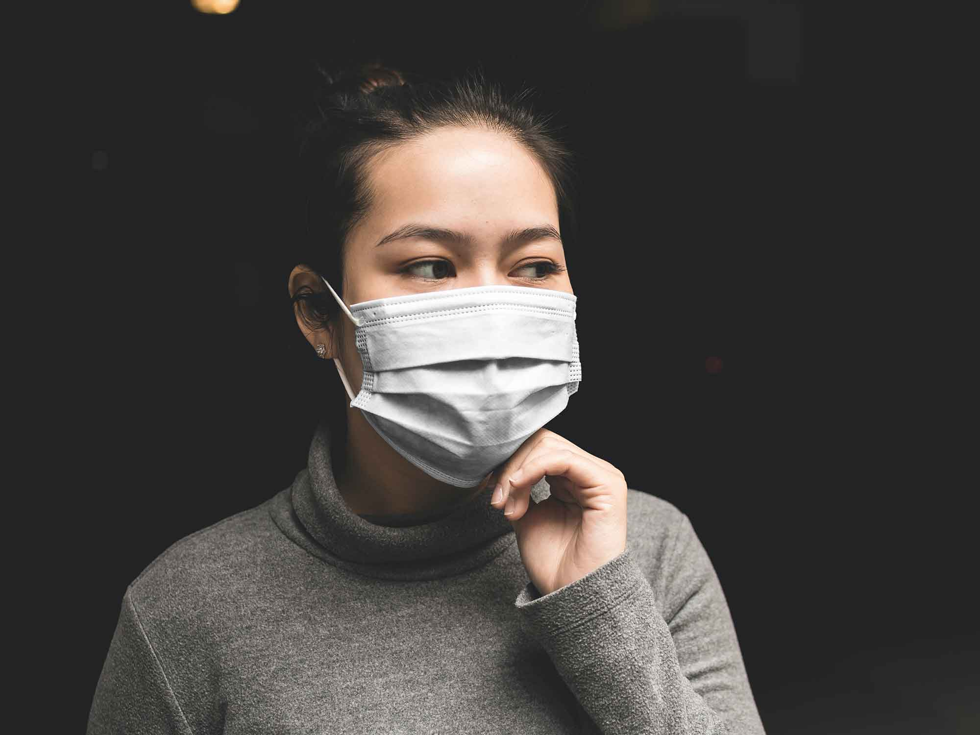 Women Face Mask Mockup 2