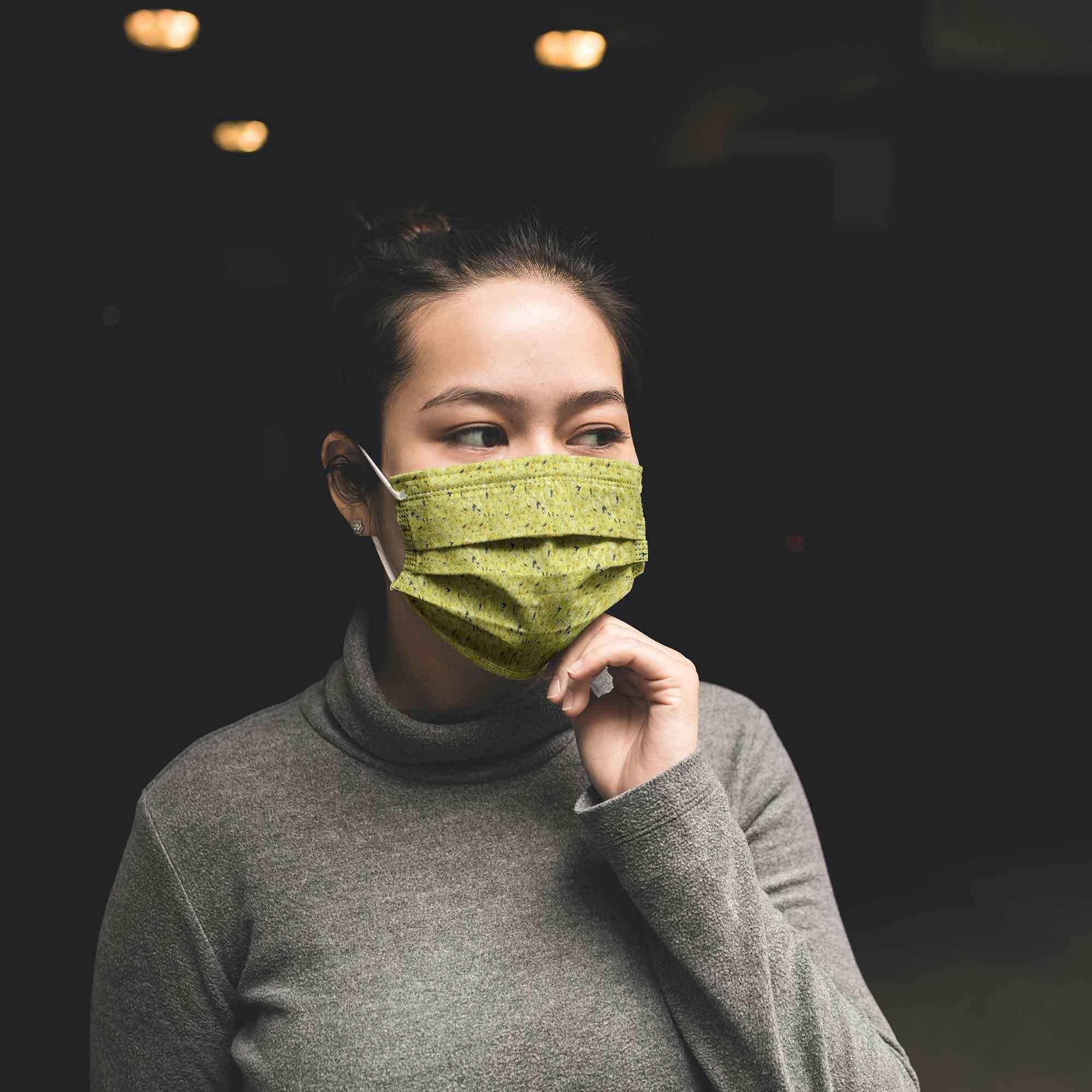 Women Face Mask Mockup