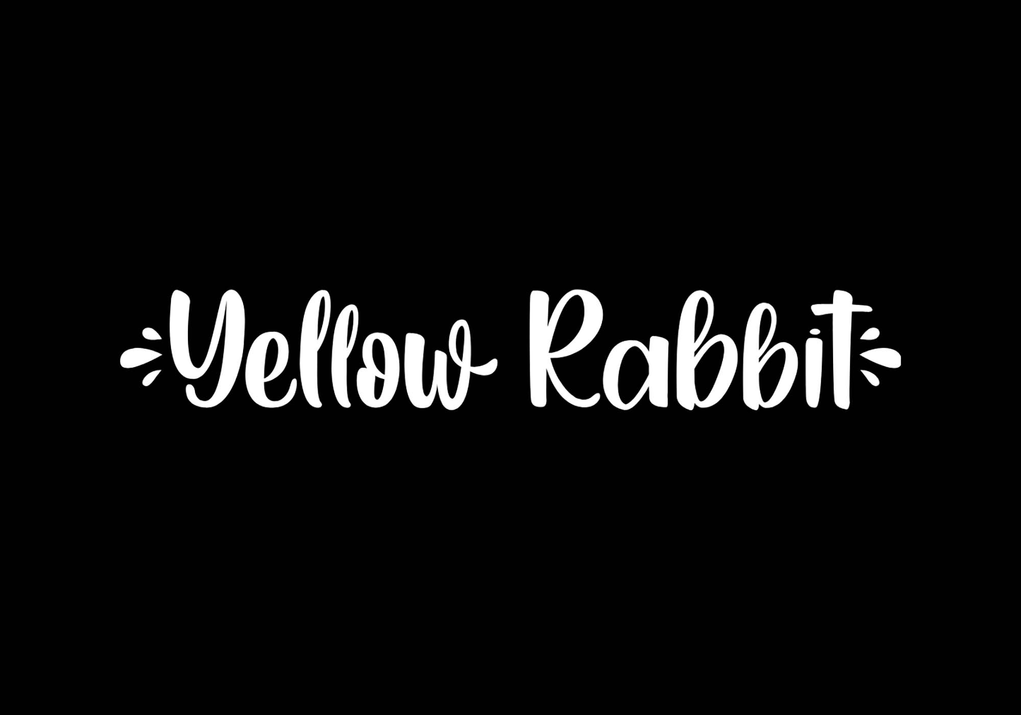 Yellow Rabbit Handwritten Font 2