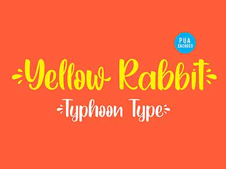 Yellow Rabbit Handwritten Font