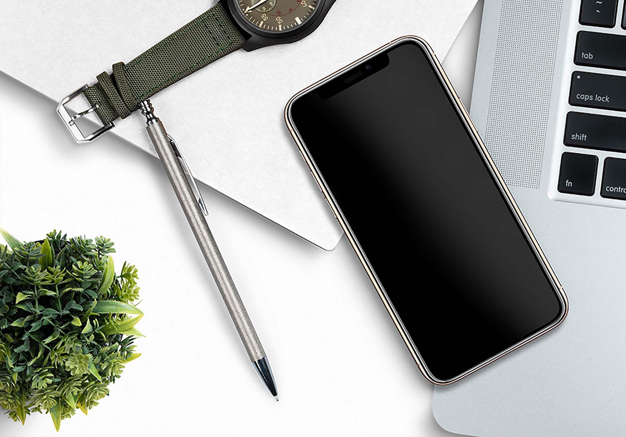iPhone 11 Pro Gold Mockup 2