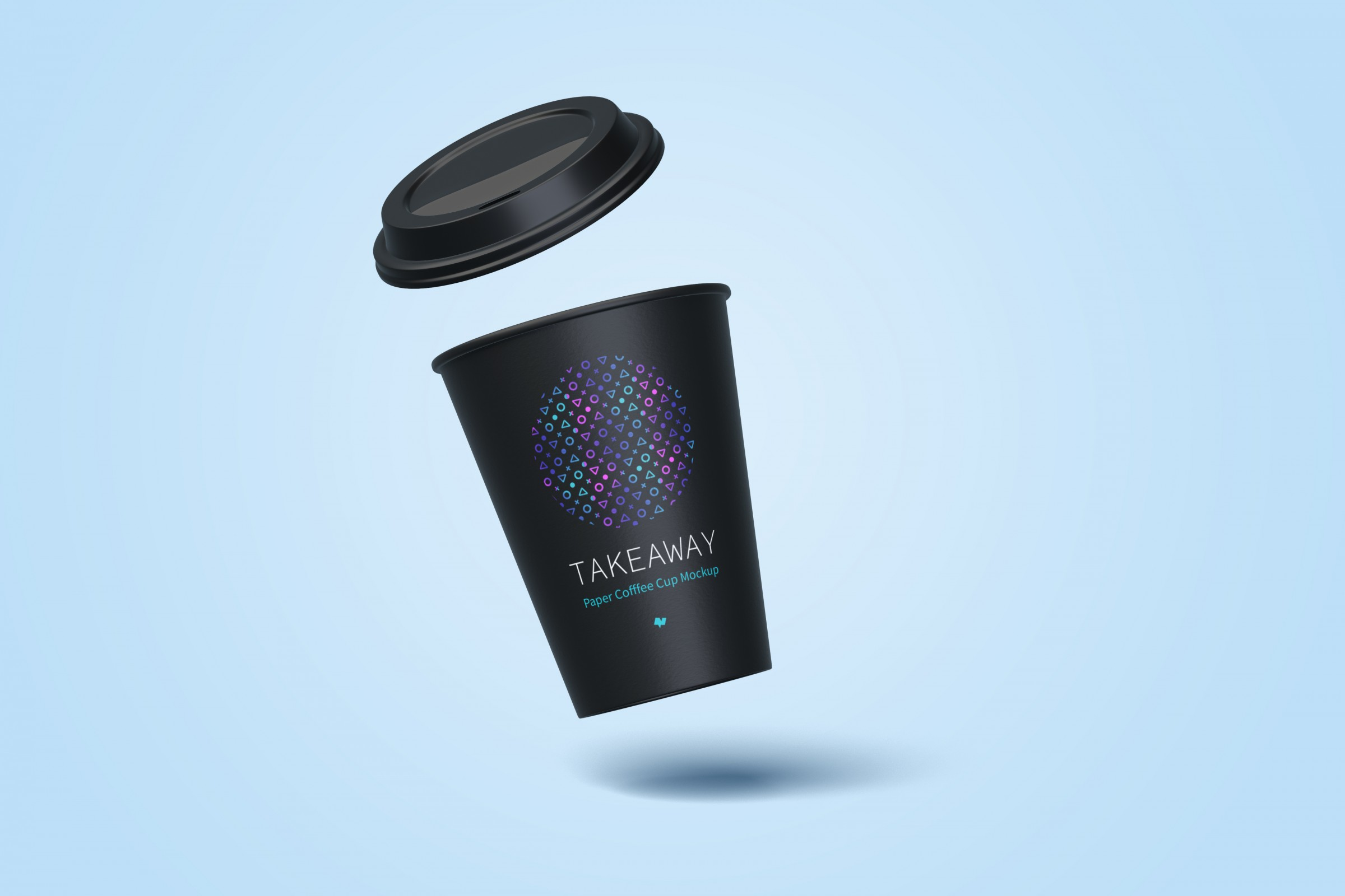 12Oz Paper Coffee Cup Mockup 2