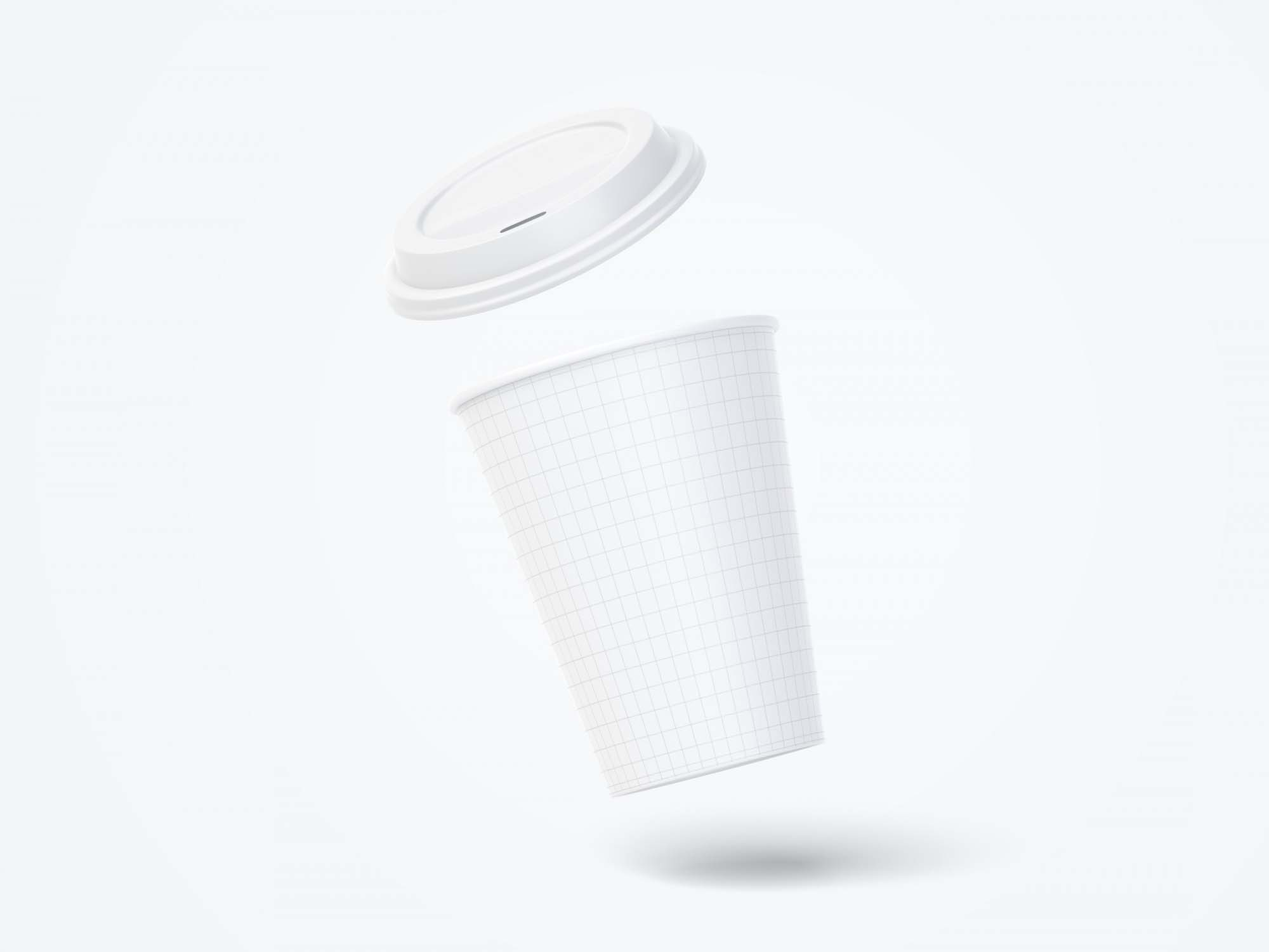 12Oz Paper Coffee Cup Mockup 3