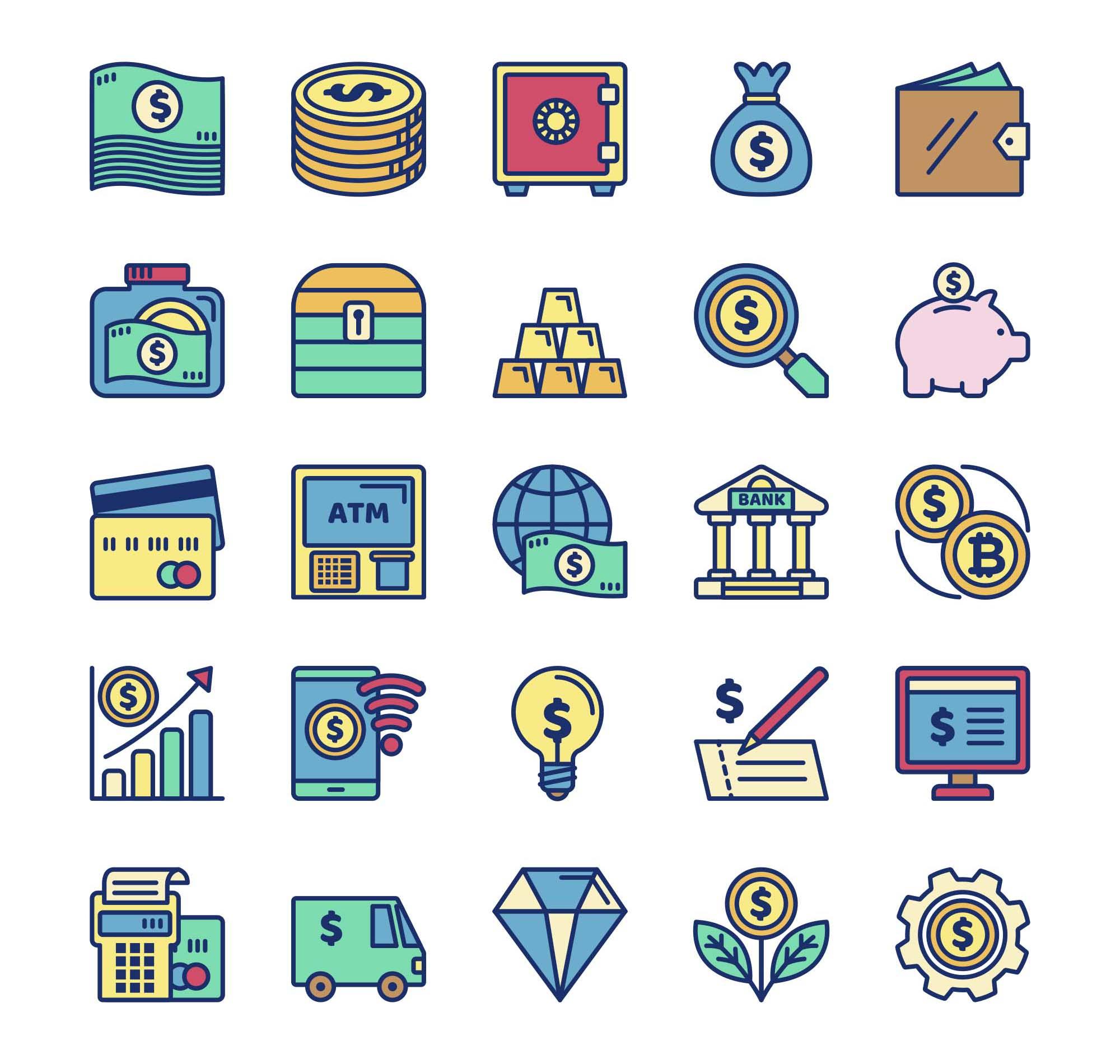 25 Money Icons