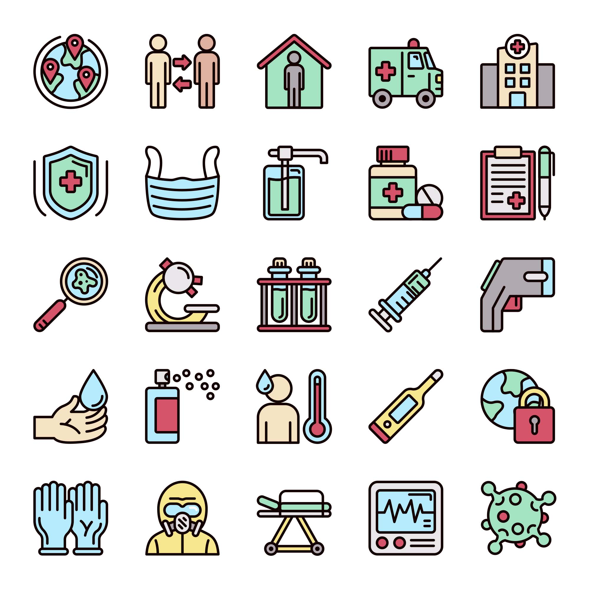 25 Pandemic Icons