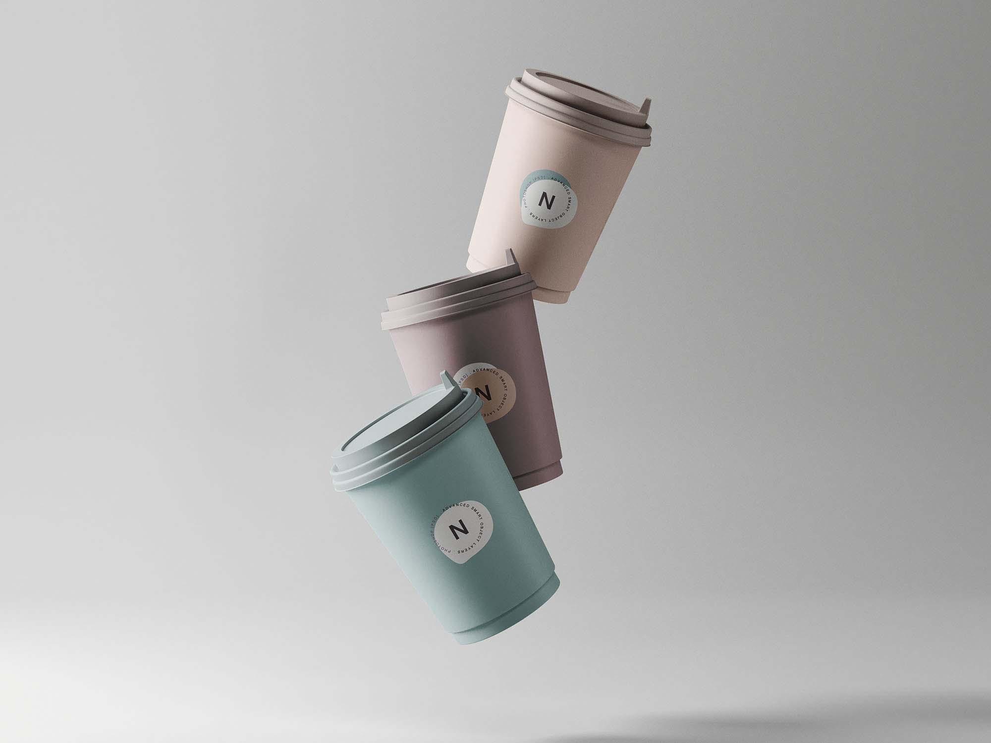 3 Coffee Cup Mockups