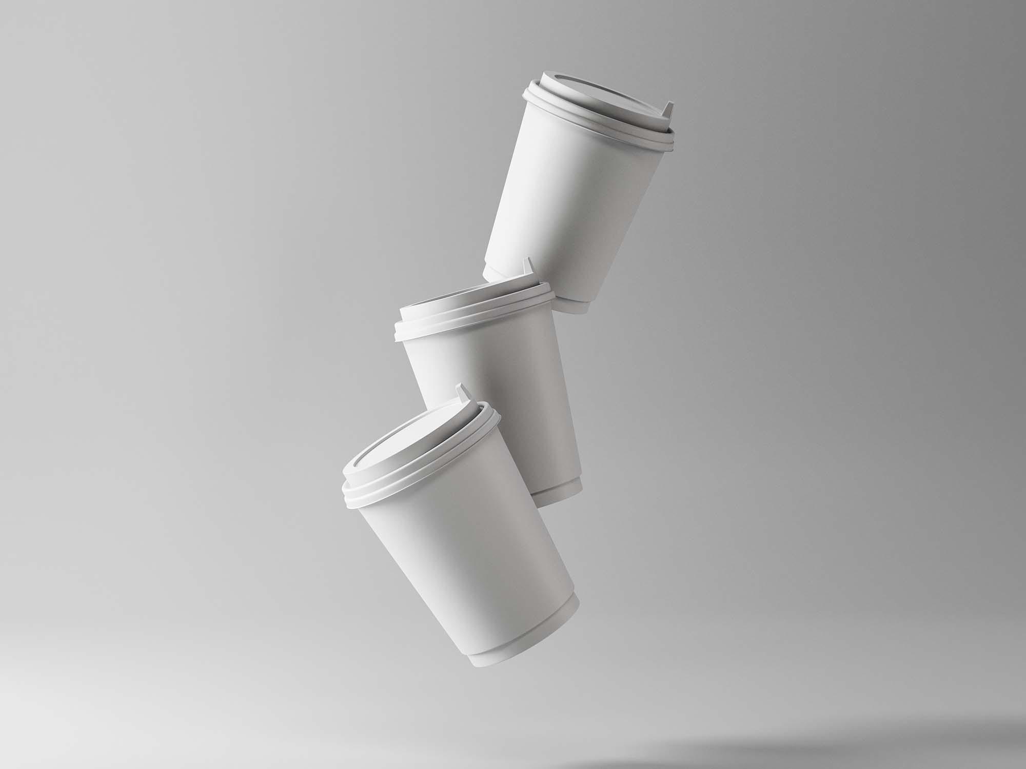 3 Coffee Cup Mockups 3