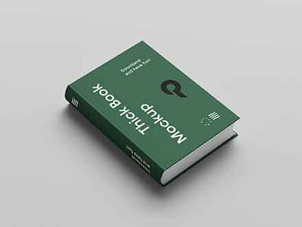 Angled Hard Cover Book Mockup