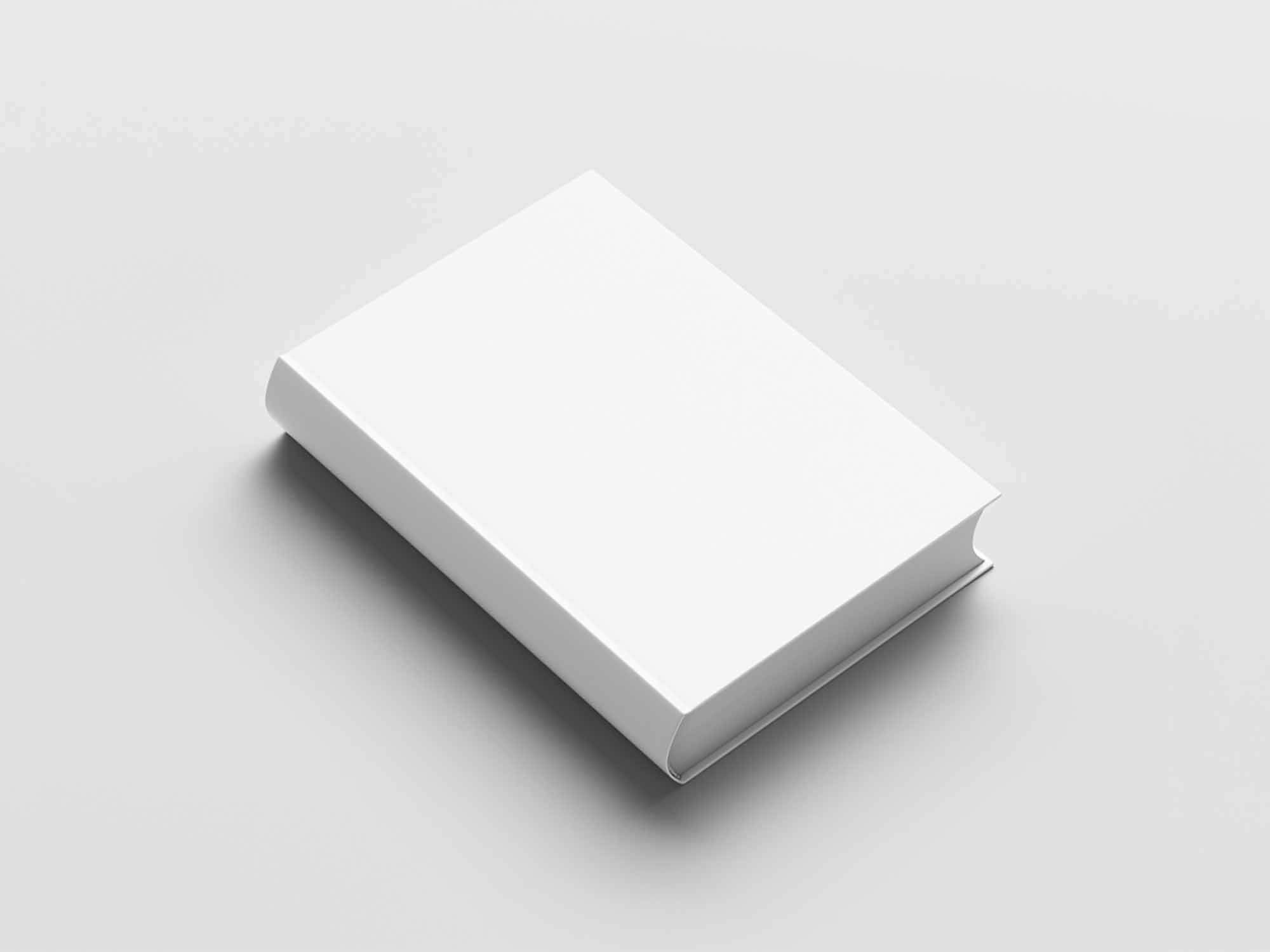 Angled Hard Cover Book Mockup 2