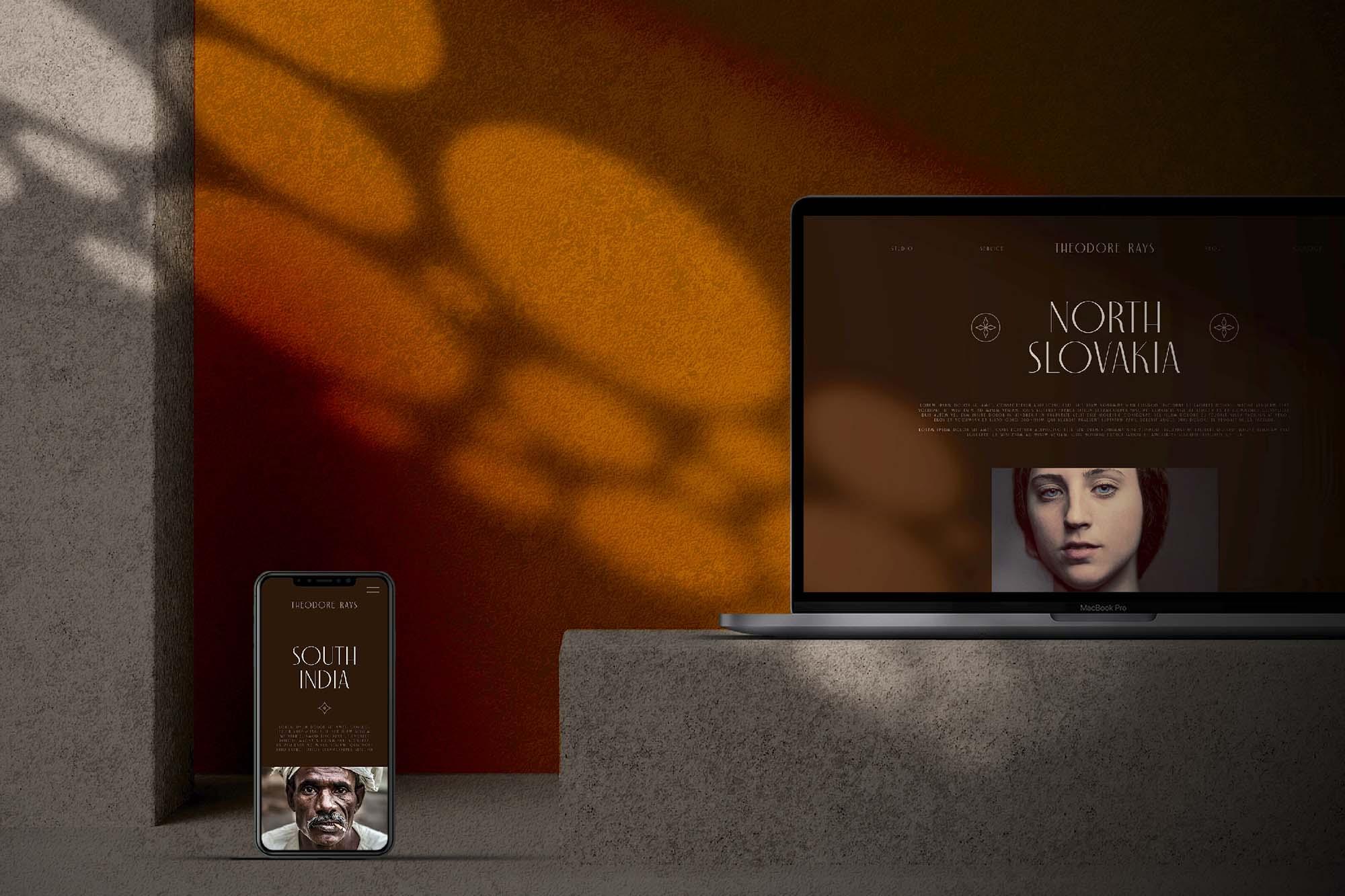 Apple Devices in Dark Mode Mockup