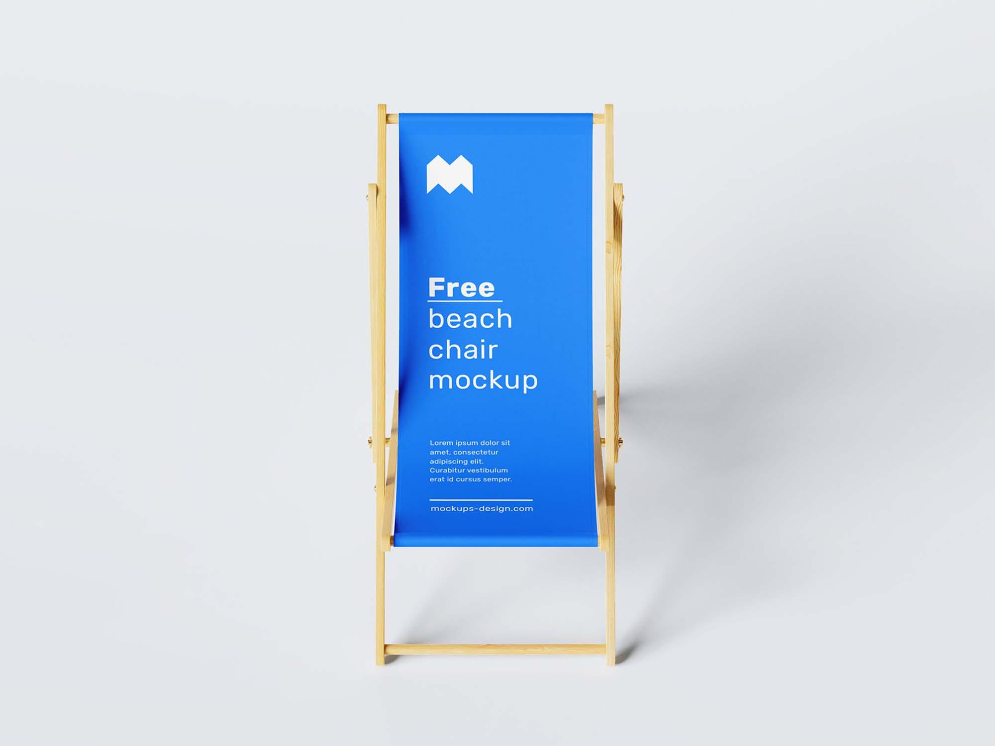 Beach Chair Mockup 3