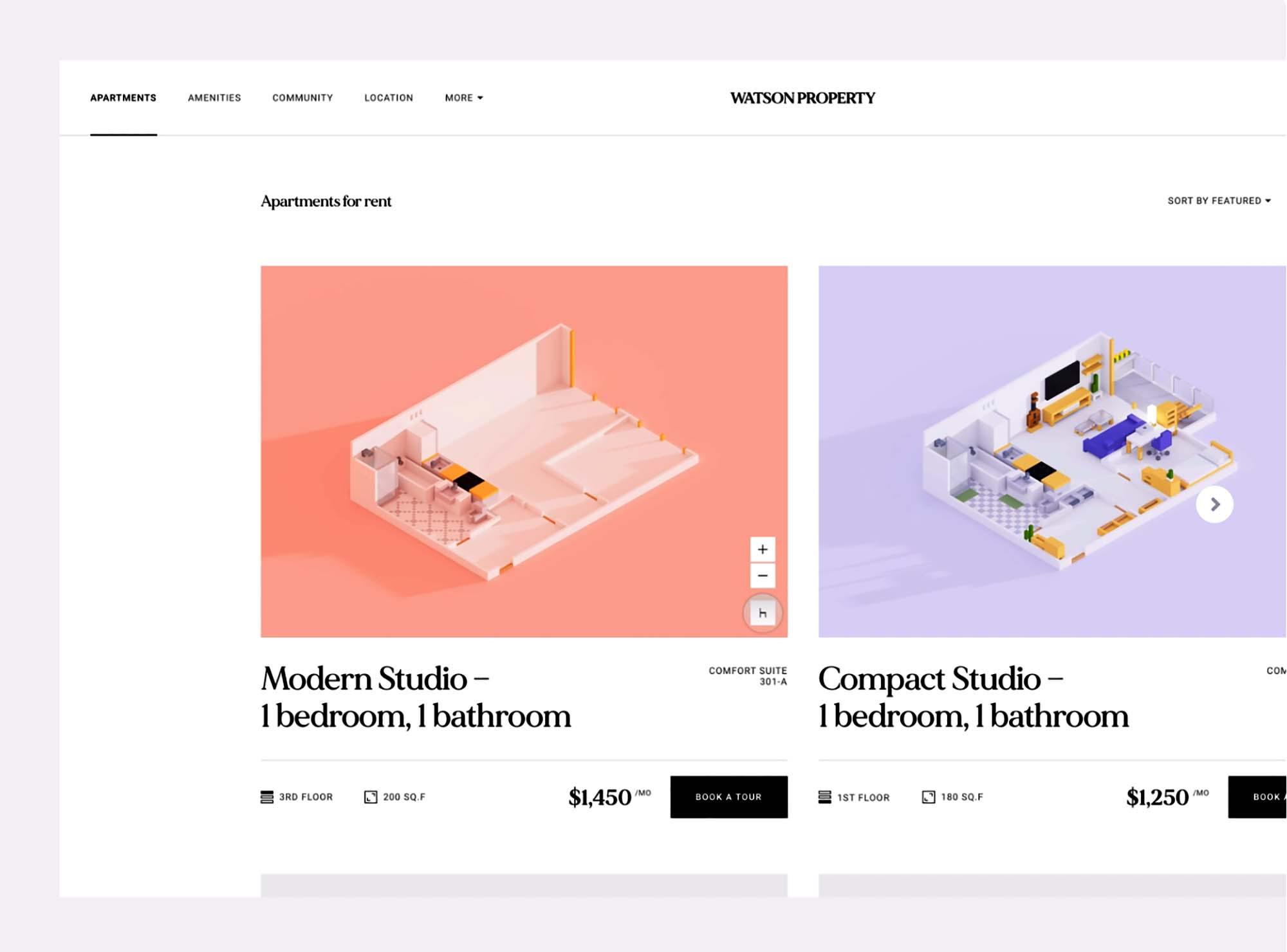 Browsing Apartments Website Template