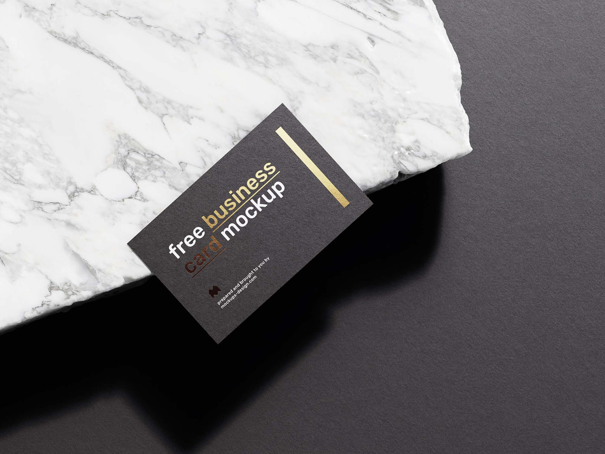 Business Card on Marble Mockup