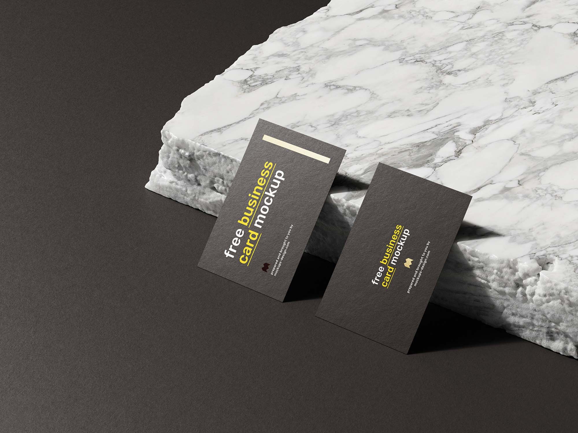 Business Card on Marble Mockup 2