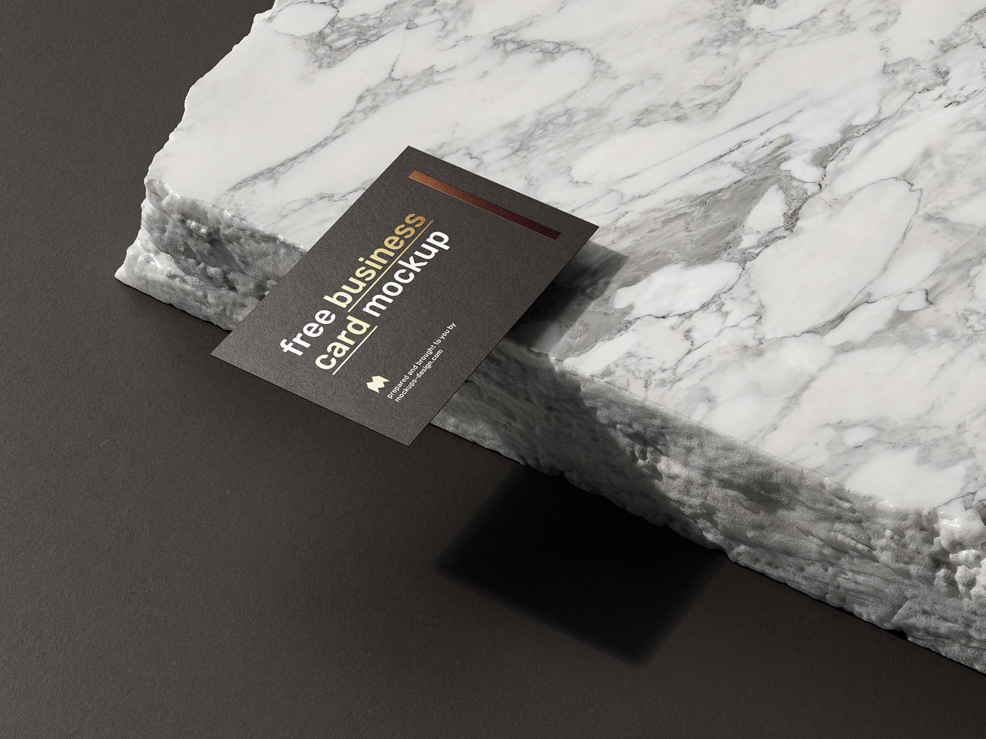 Business Card on Marble Mockup 3