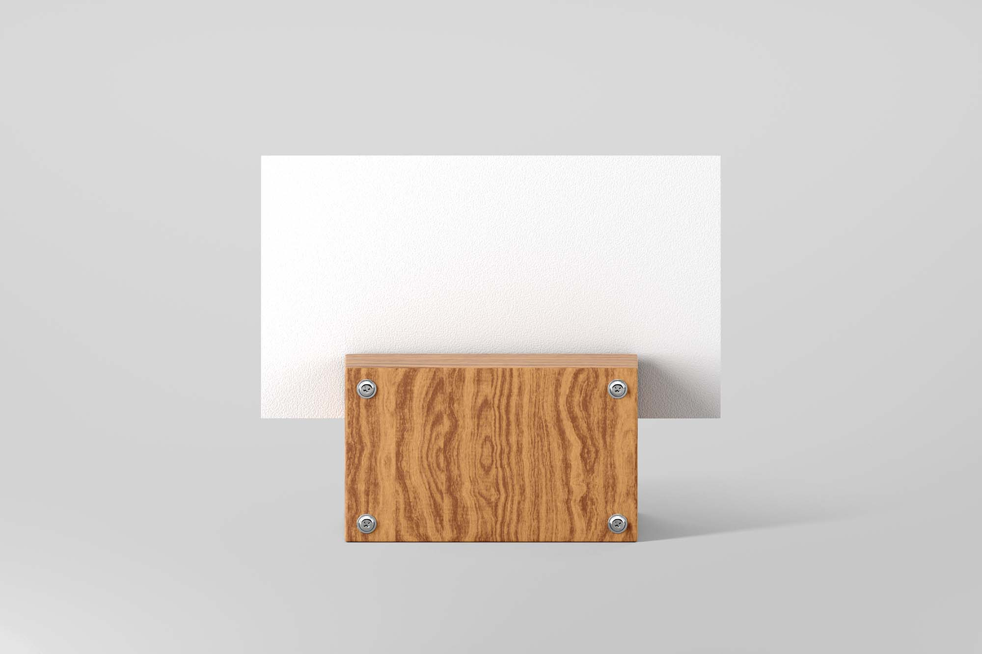 Business Card with Wooden Support Mockup 2
